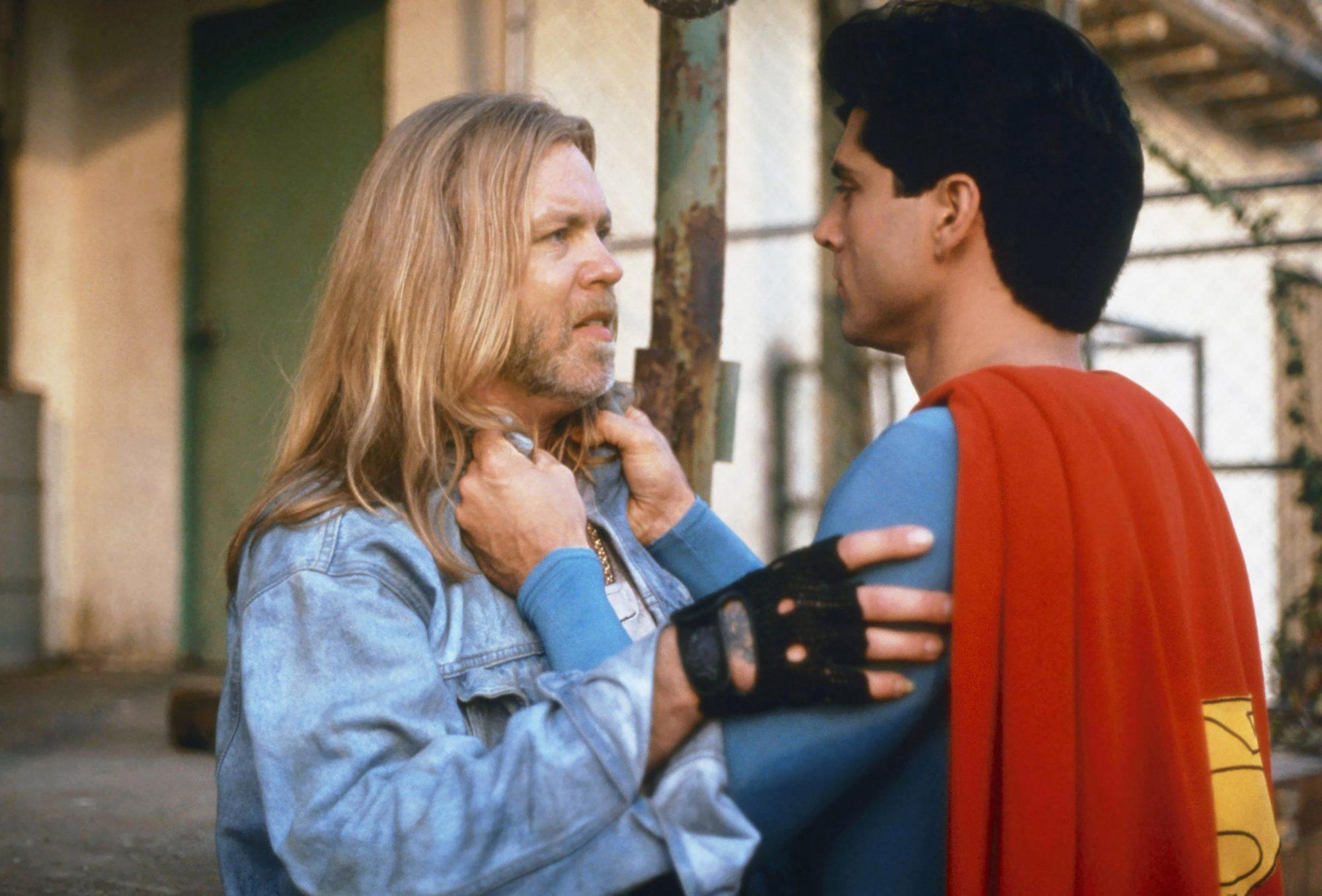 SUPERBOY, from left: Gregg Allman, Gerard christopher, 'Carnival,' (season 3, episode 8, aired