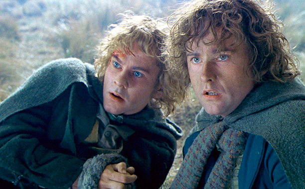 'Lord of the Rings' - Crew gives Billy Boyd and Dominic Monaghan a revised script saying the hobbits had to snuggle up naked