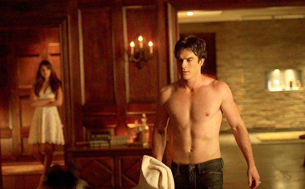 'Vampire Diaries' - Ian Somerhalder puts elephant ears on his privates during Nina Dobrev love scene