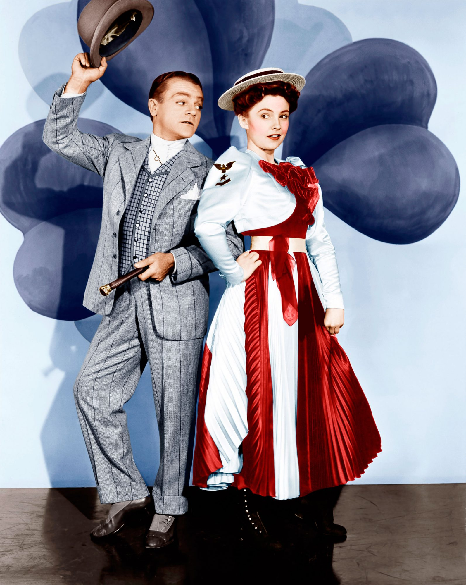 YANKEE DOODLE DANDY, from left: James Cagney (as George M. Cohan), Joan Leslie, 1942