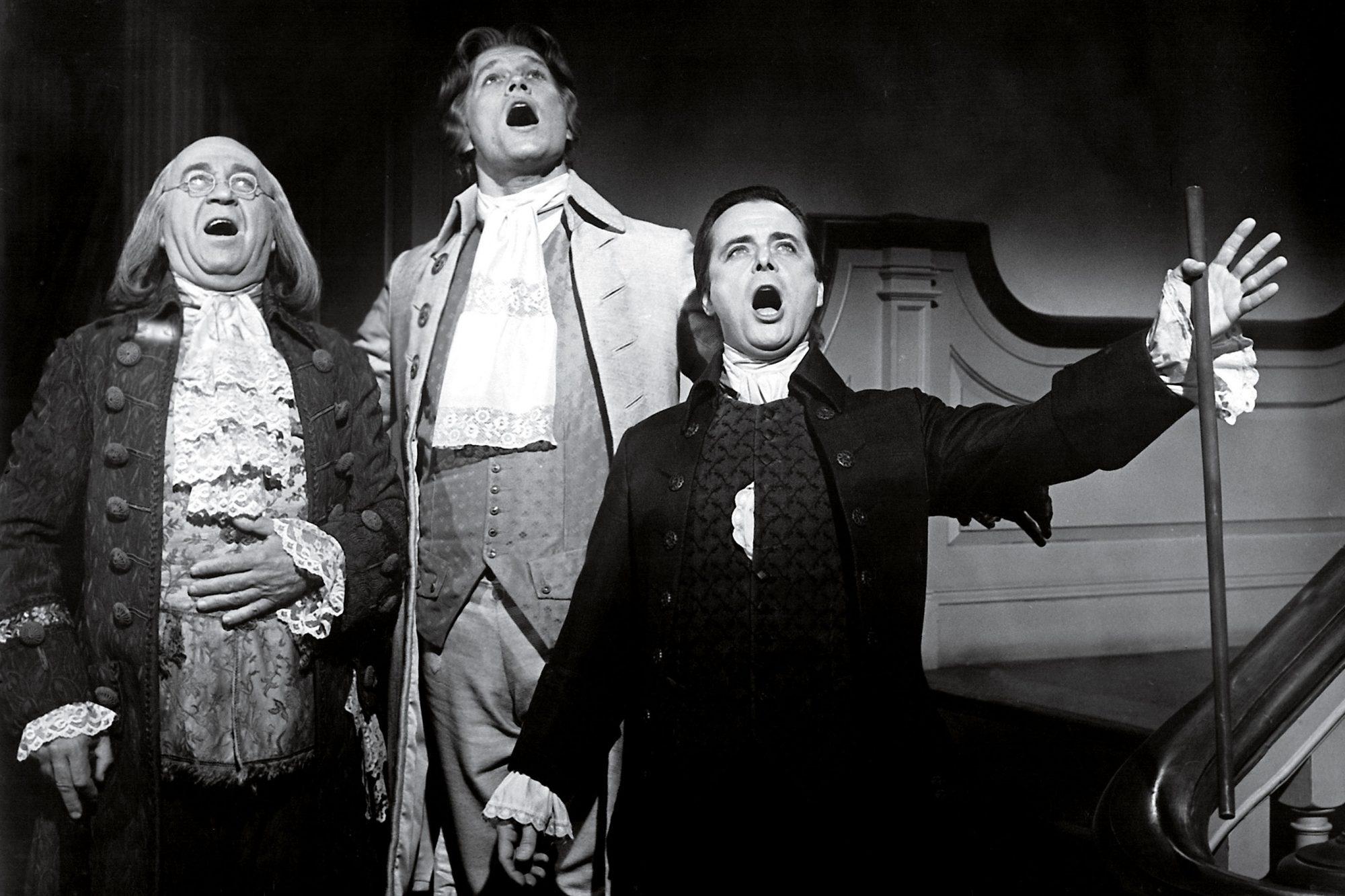 1776, Howard Da Silva, Ken Howard, William Daniels, (as Franklin, Jefferson & Adams), 1972.