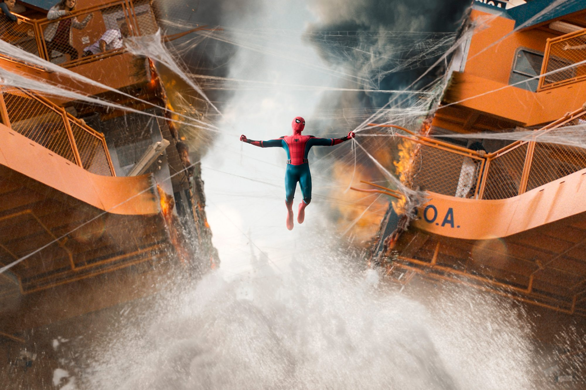 Spider-Man comes to the rescue of the Staten Island Ferry