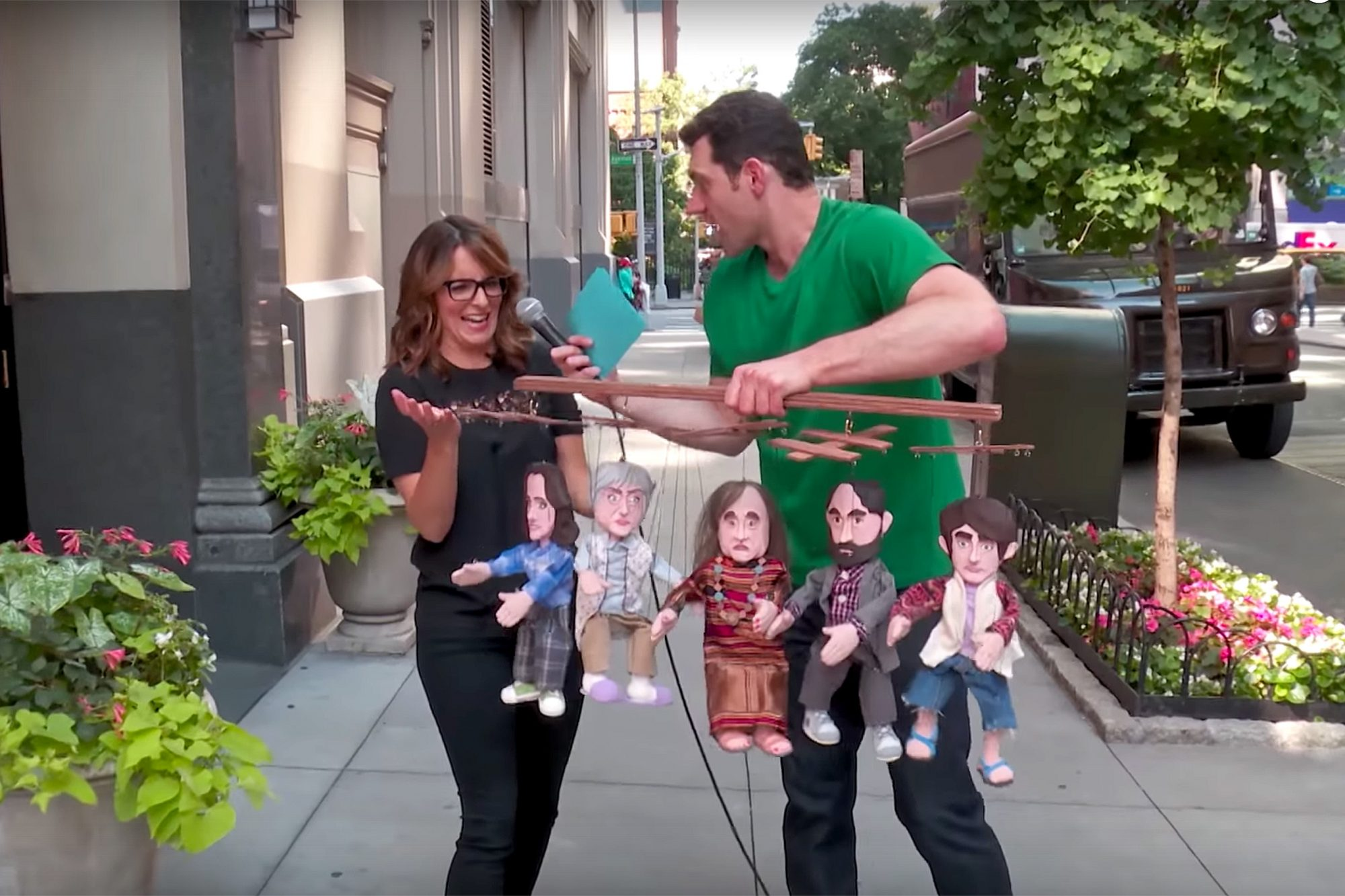 Billy on the Street with Tina Fey