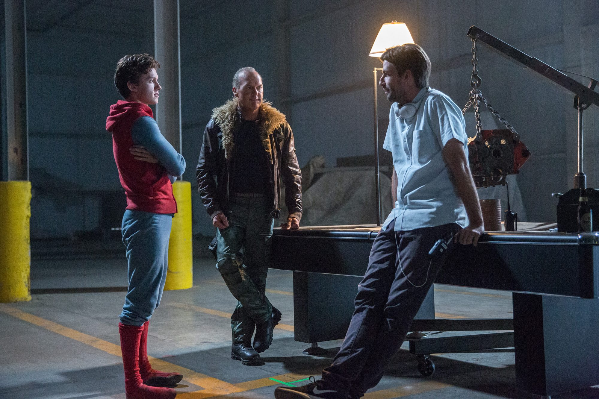 BTS;Crew;Jon Watts - (Director);Michael Keaton;Tom Holland