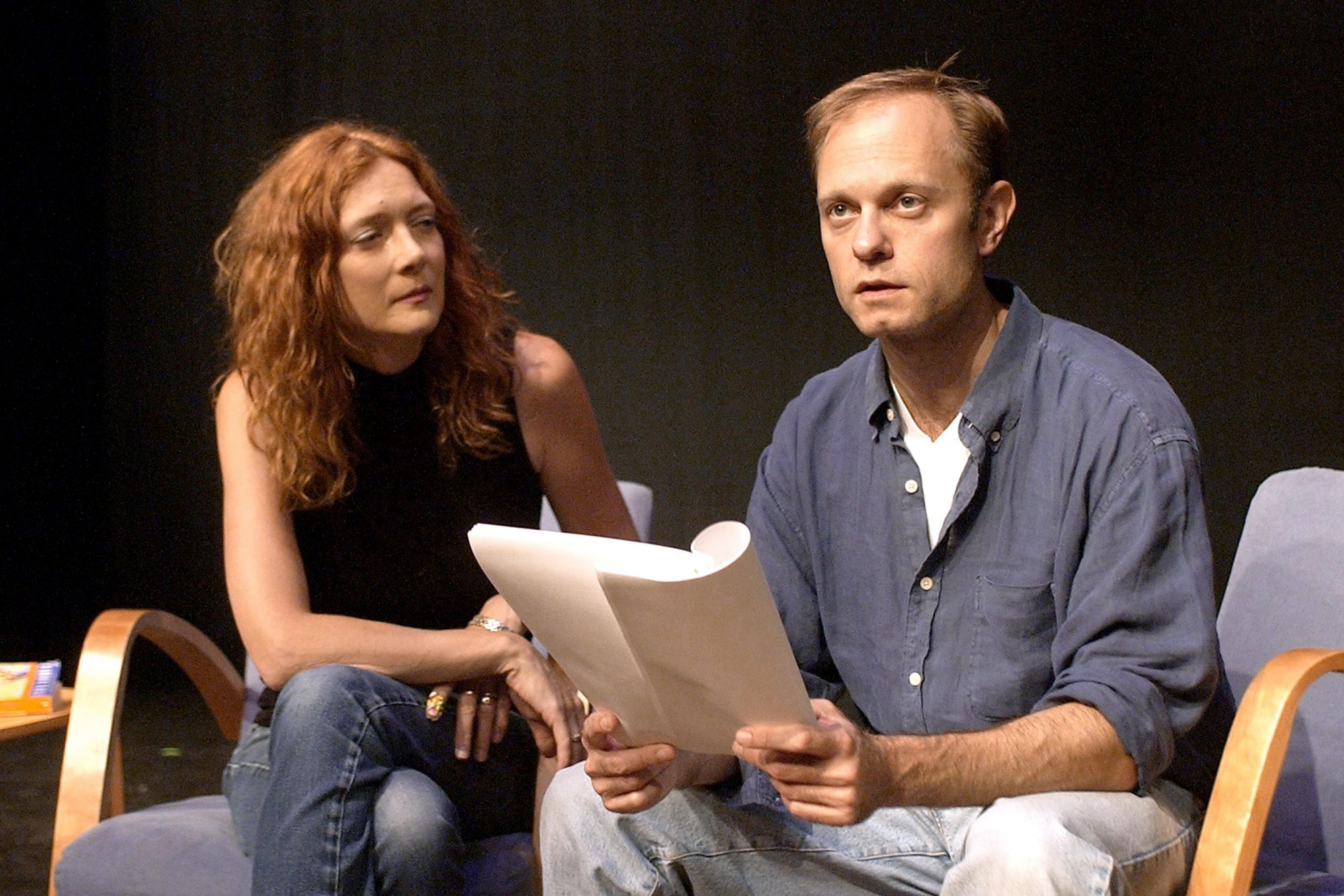 """The Guys"" Photo call with Glenne Headly and David Hyde Pierce"