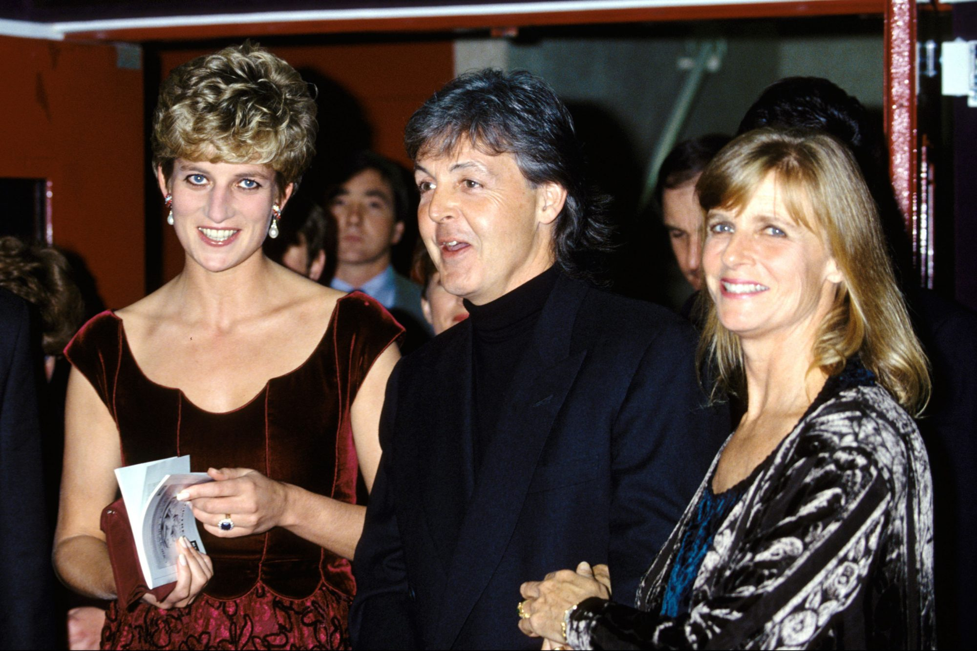 Lady Diana With Paul Mccartney In Lille, France On November 15, 1992.