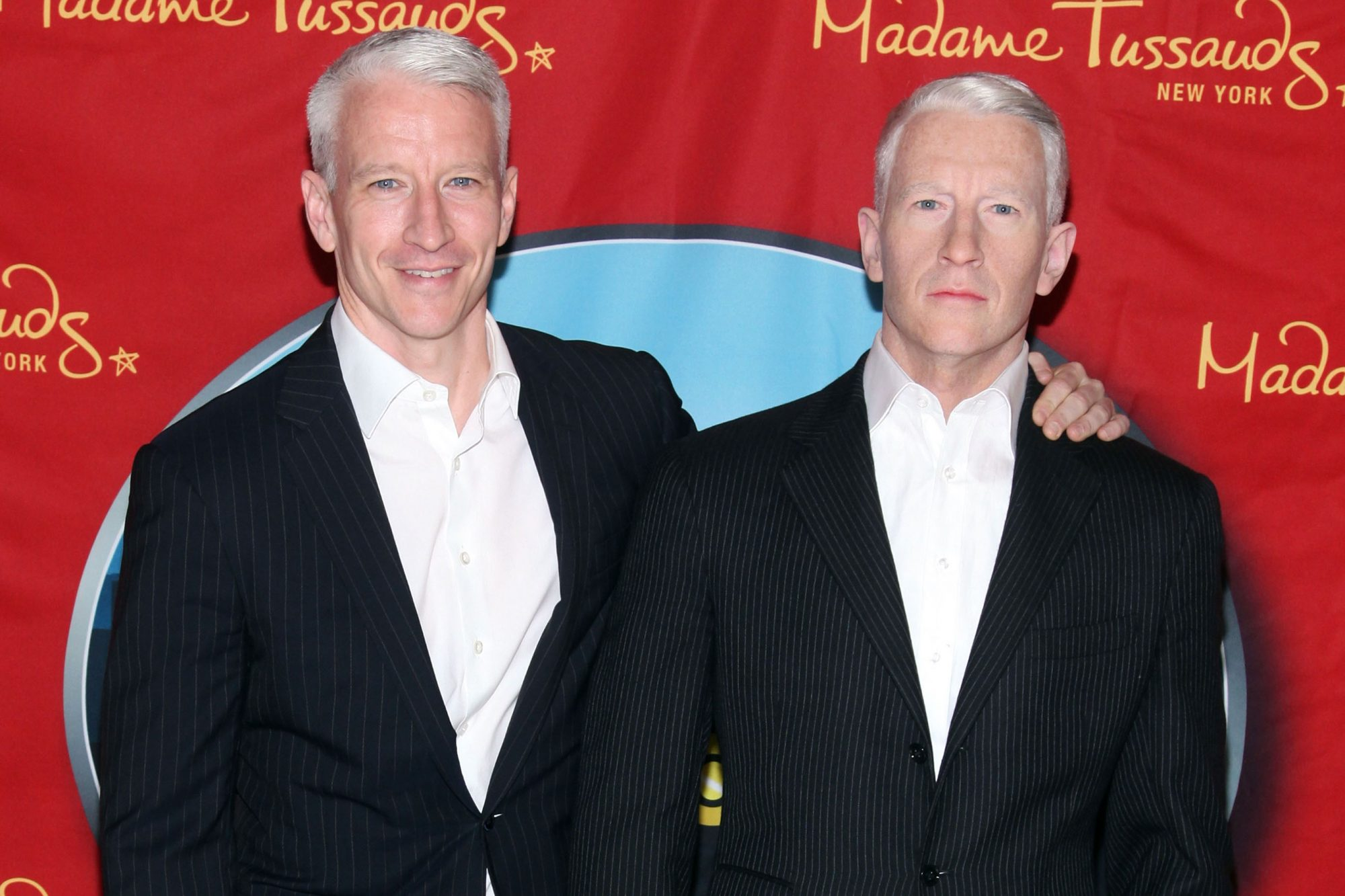 Anderson Cooper Unveils His Wax Figure At Madame Tussauds
