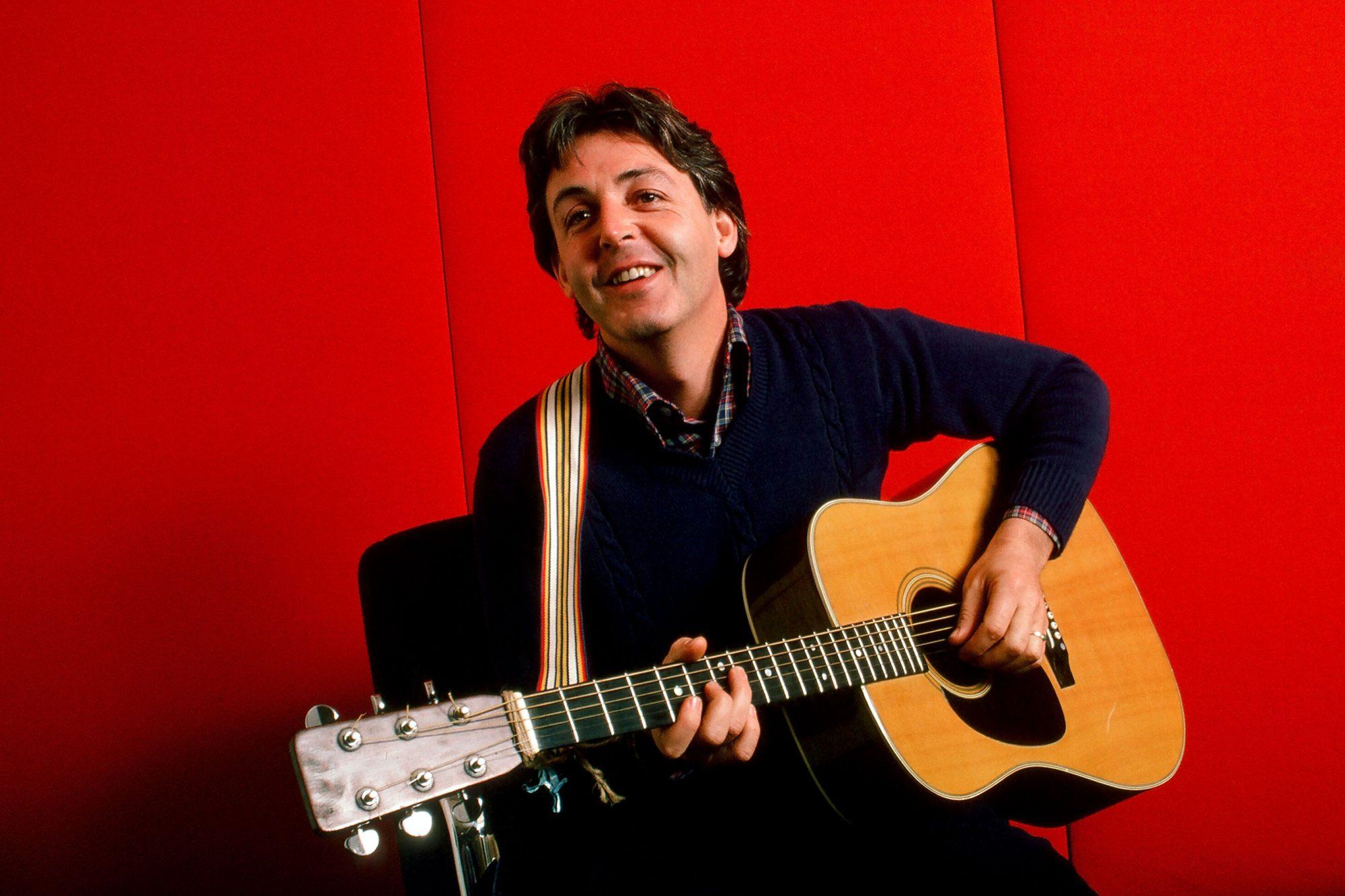 Paul McCartney With Guitar