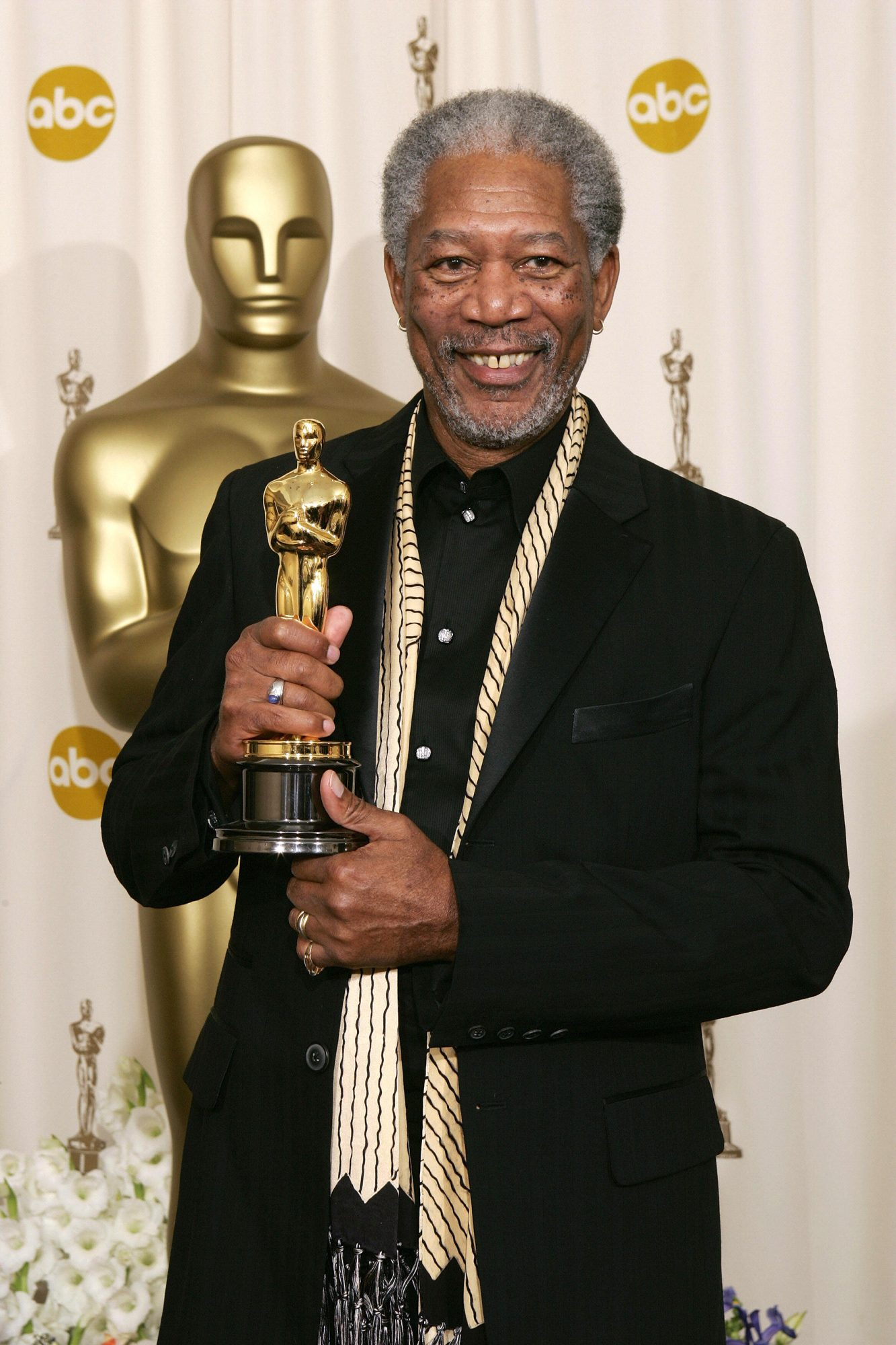 Actor Morgan Freeman, nominated for Best