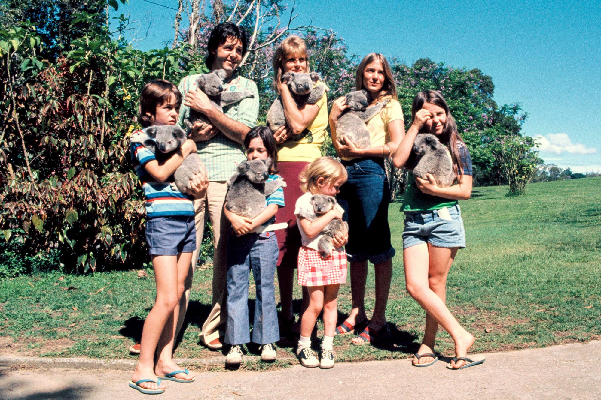 Paul McCartney And Family In Brisbane