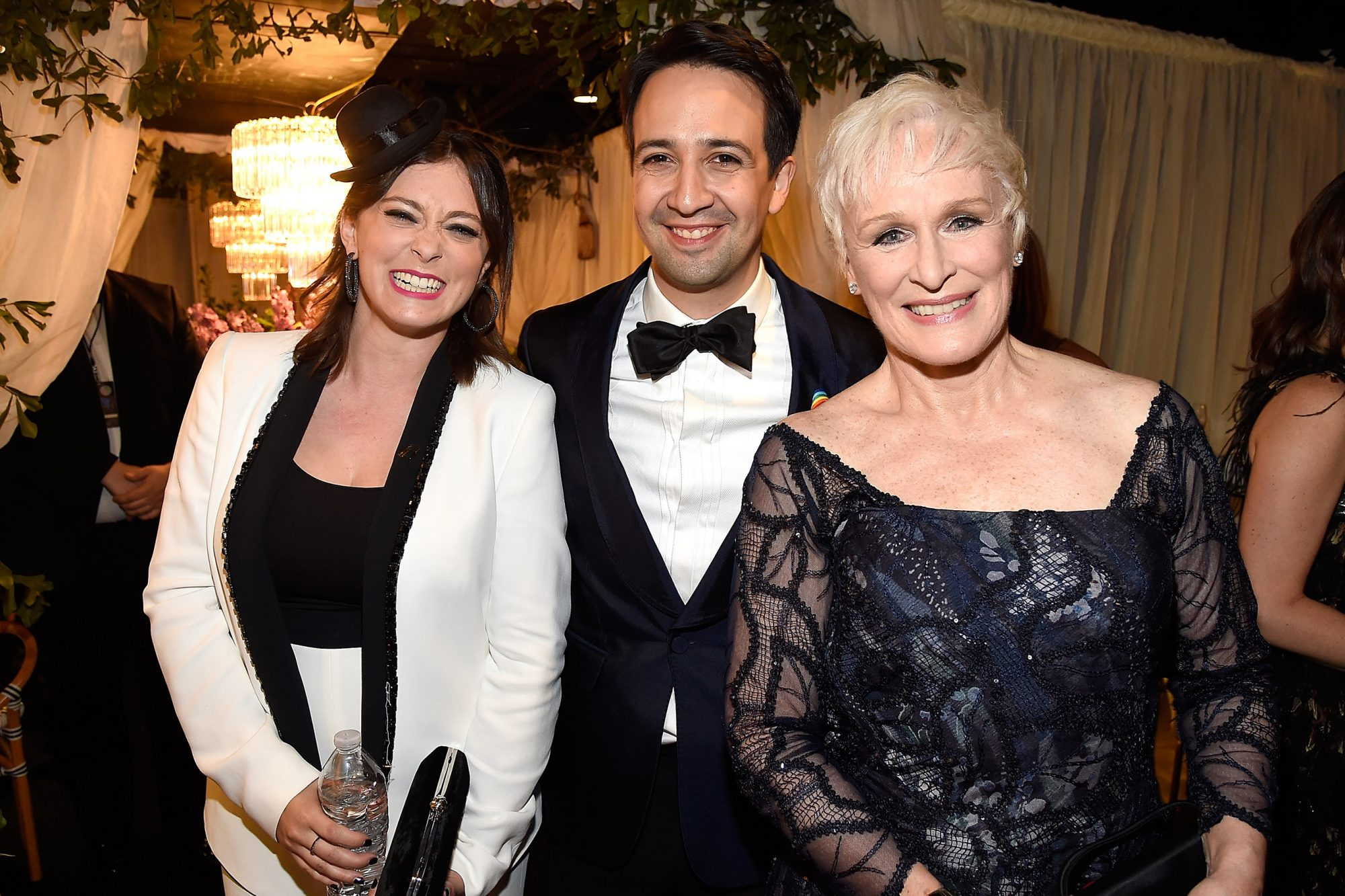 With Lin-Manuel Miranda and Glenn Close