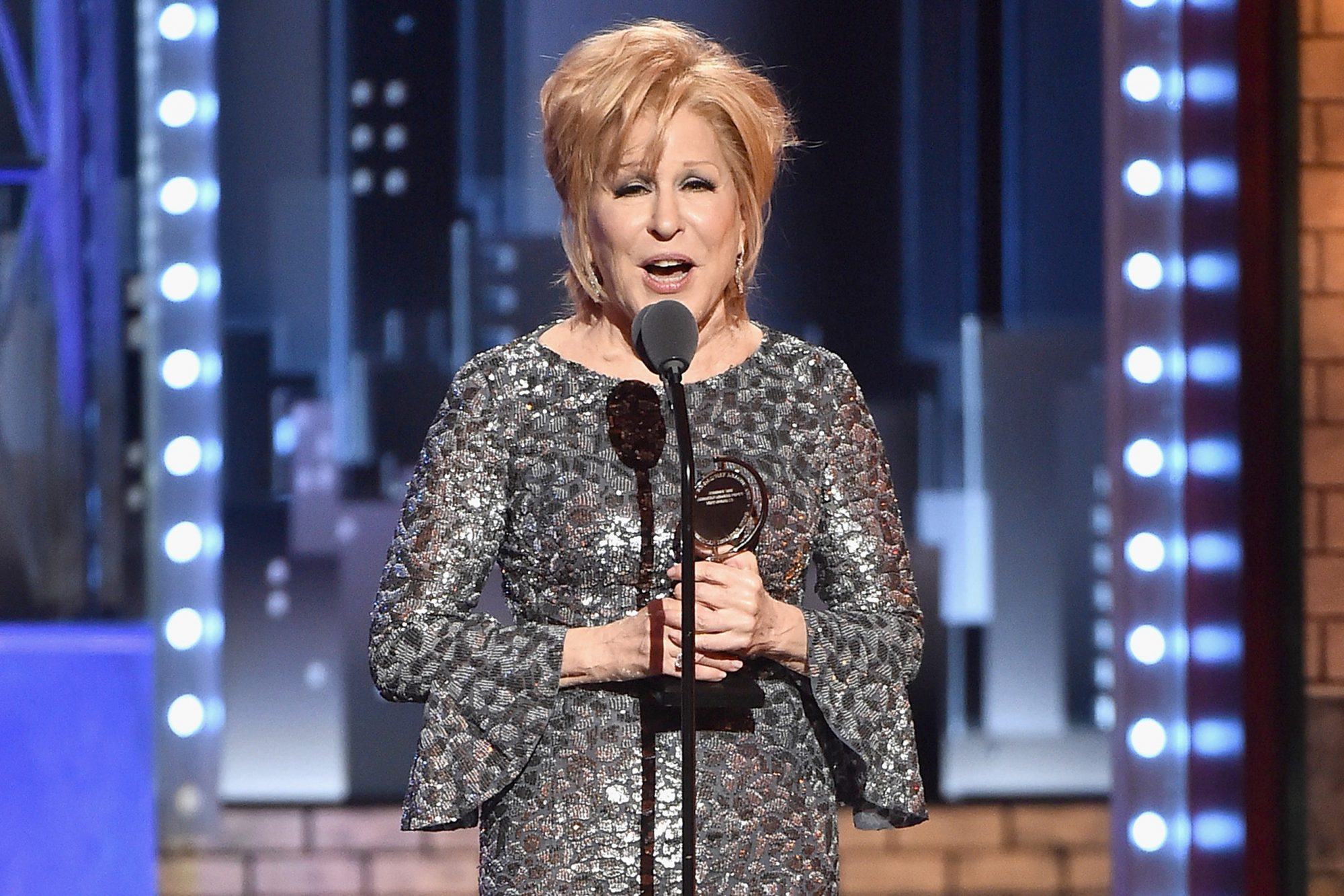 Bette Midler wins her first Tony, and will not be played off the stage (2017)