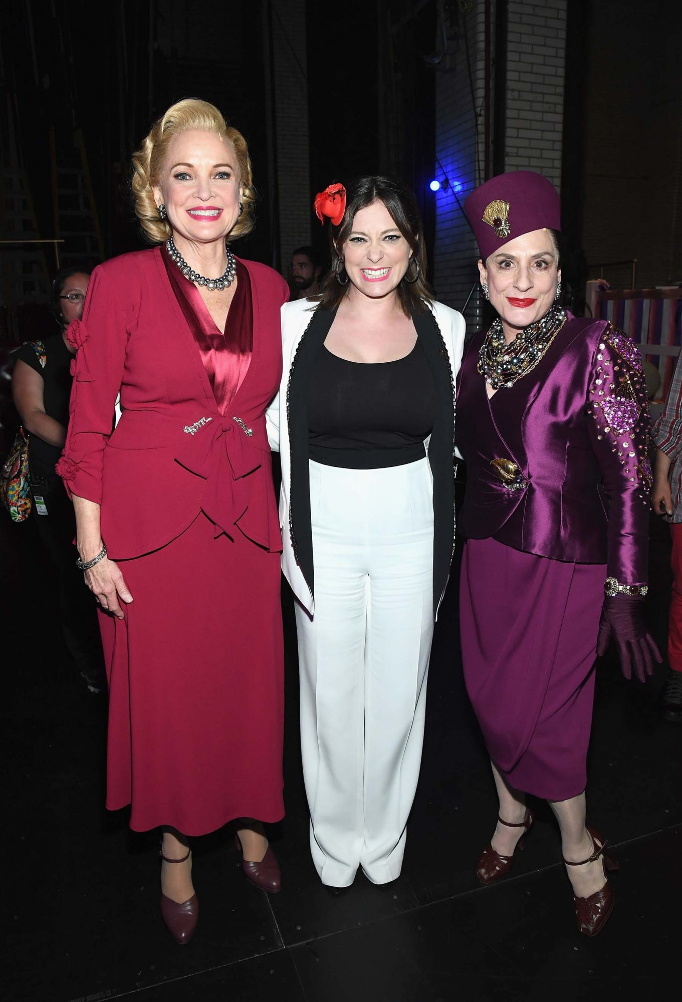 With Christine Ebersole and Patti LuPone