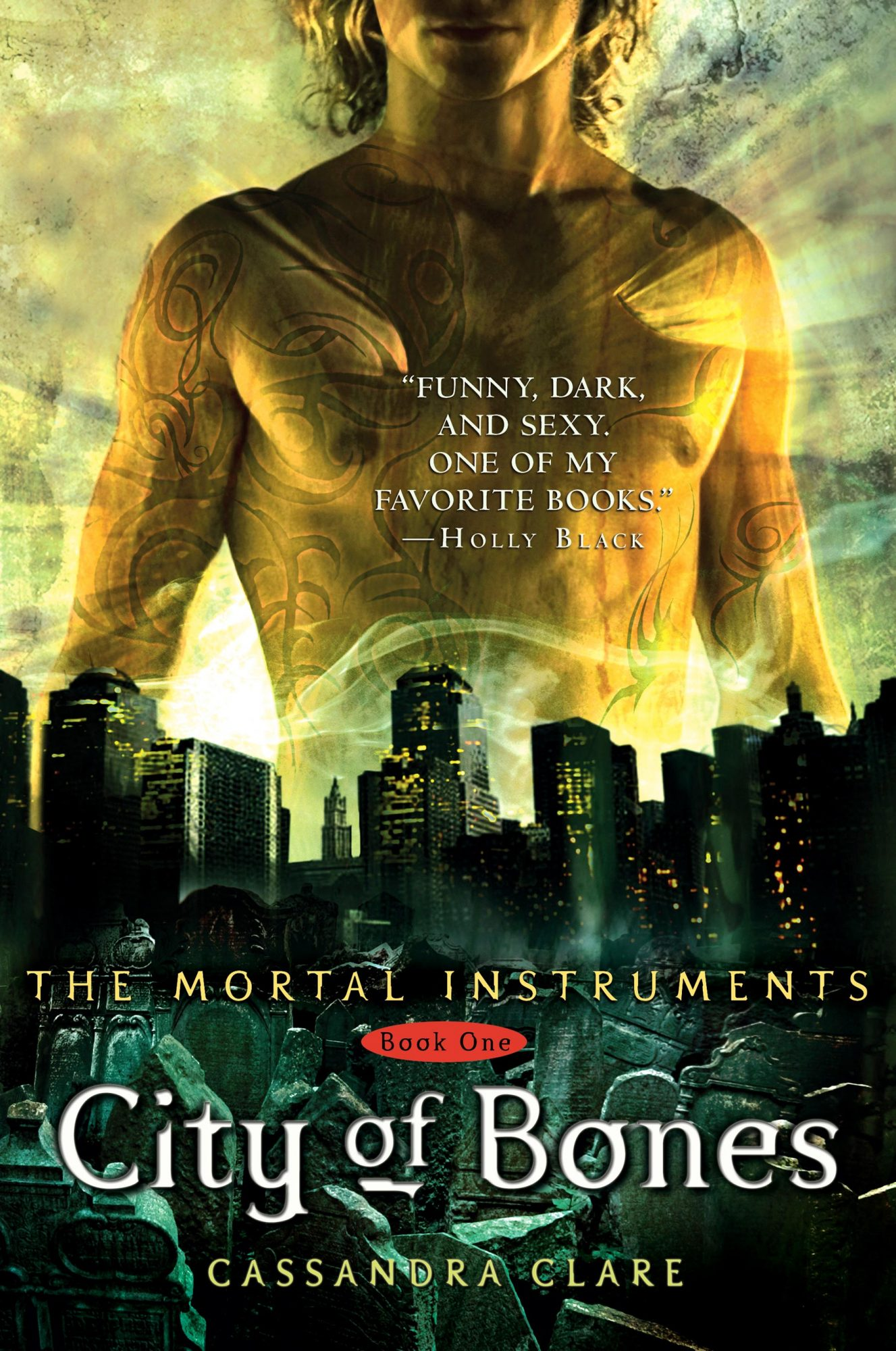 THE MORTAL INSTRUMENTS: CITY OF BONES by Cassandra Clare -- book cover