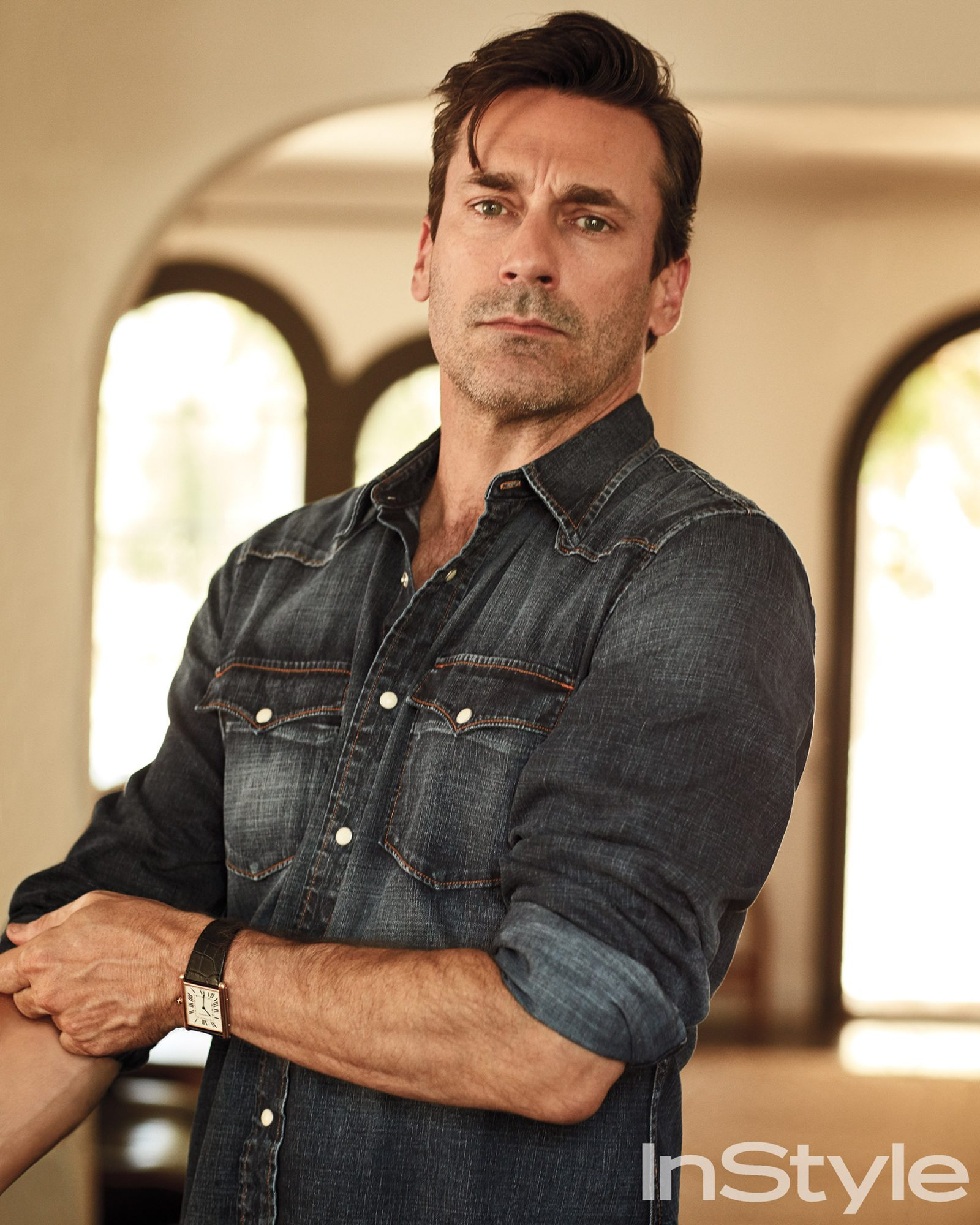 Jon Hamm in July issue of InStyle