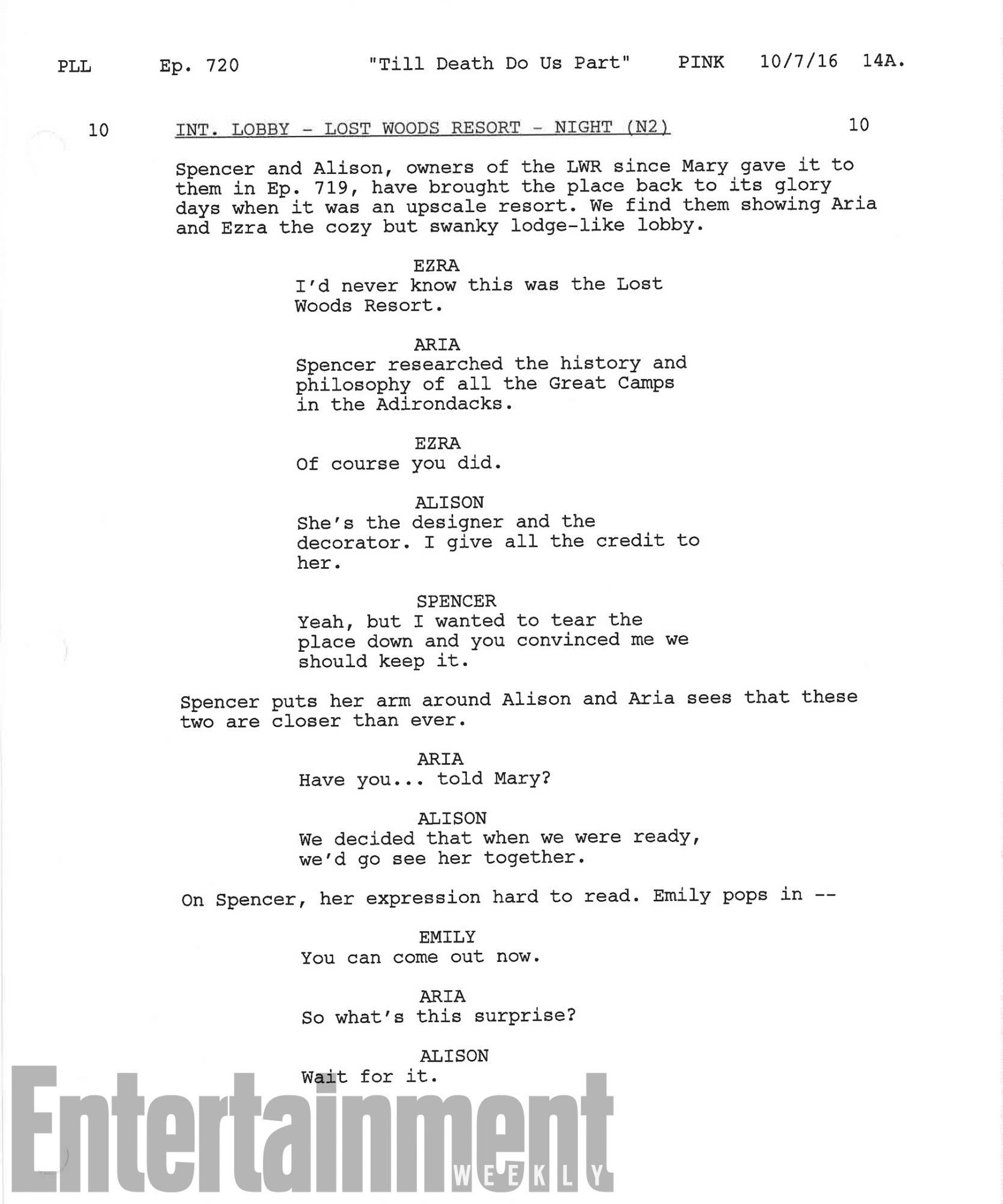 Pretty Little Liars script