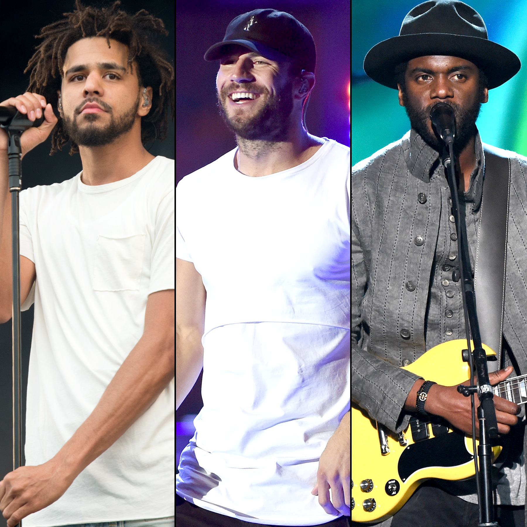 J. Cole, Sam Hunt and Gary Clark Jr.