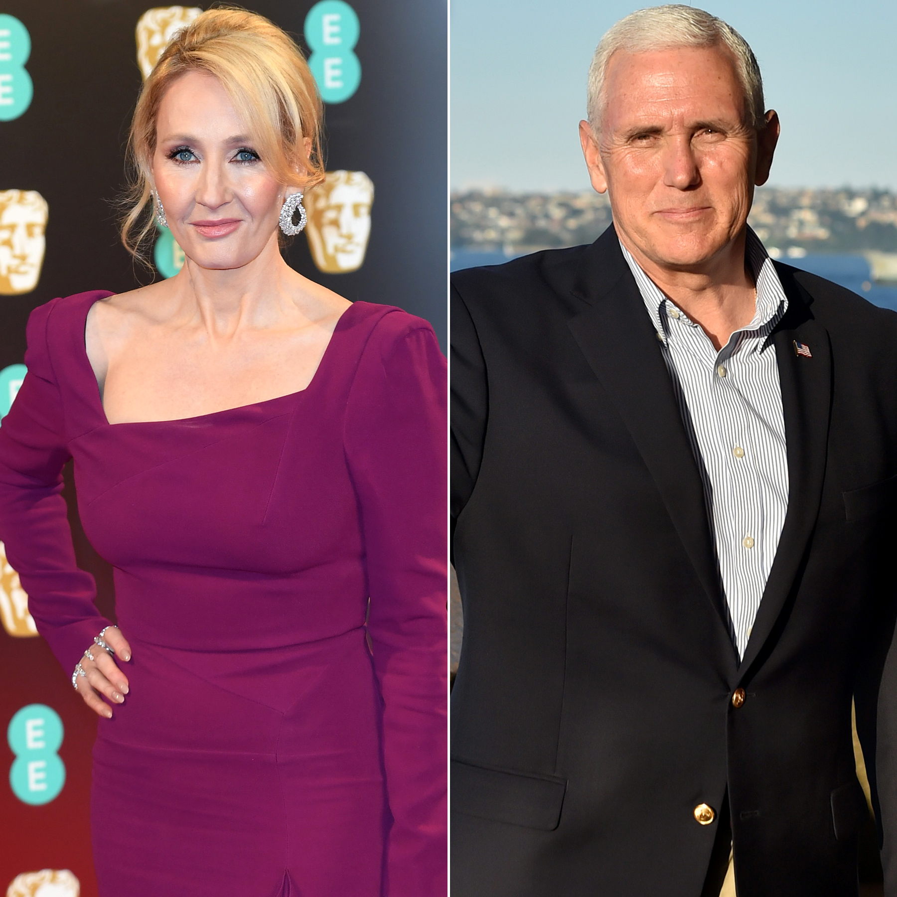 JK Rowling and Mike Pence