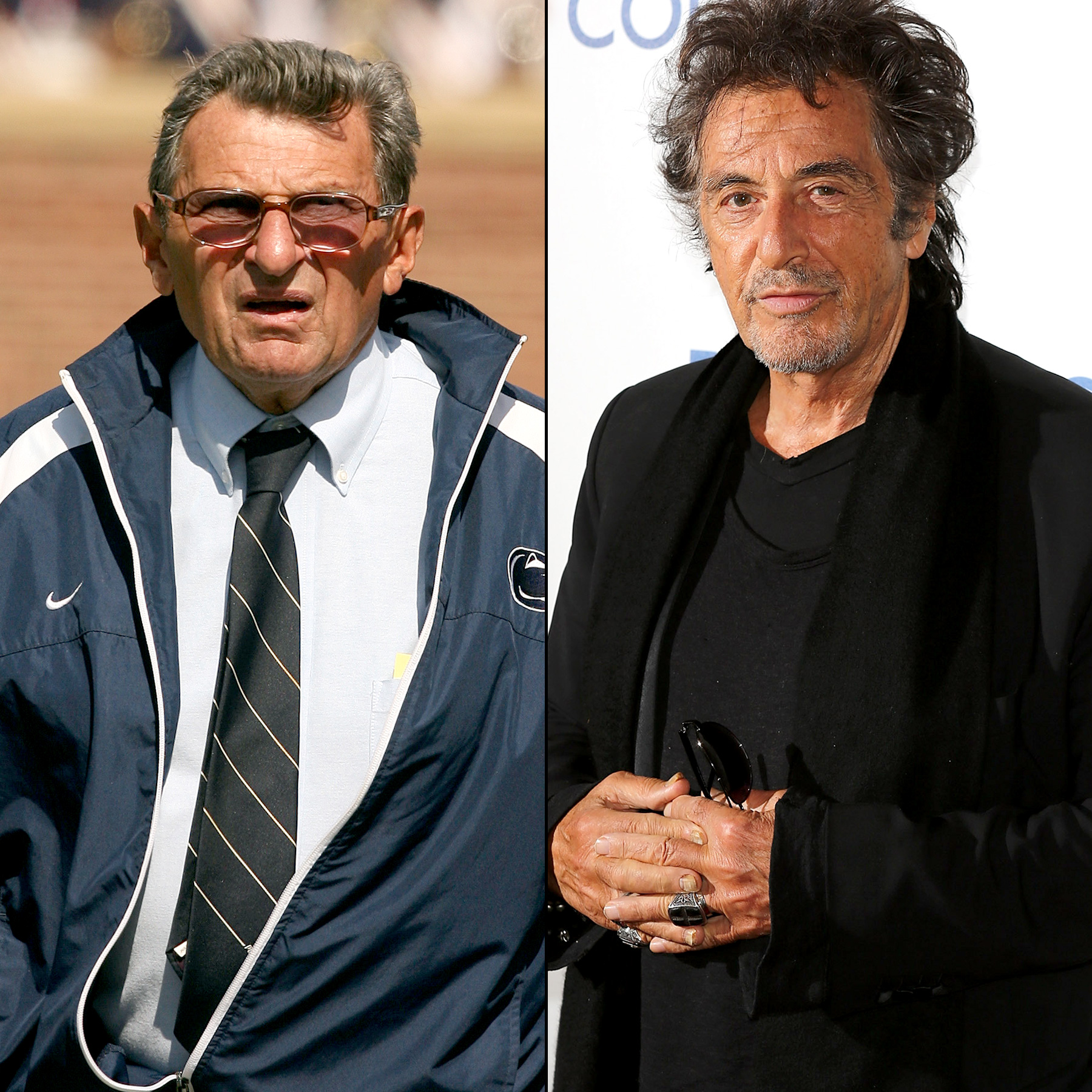 Joe Paterno and Al Pacino