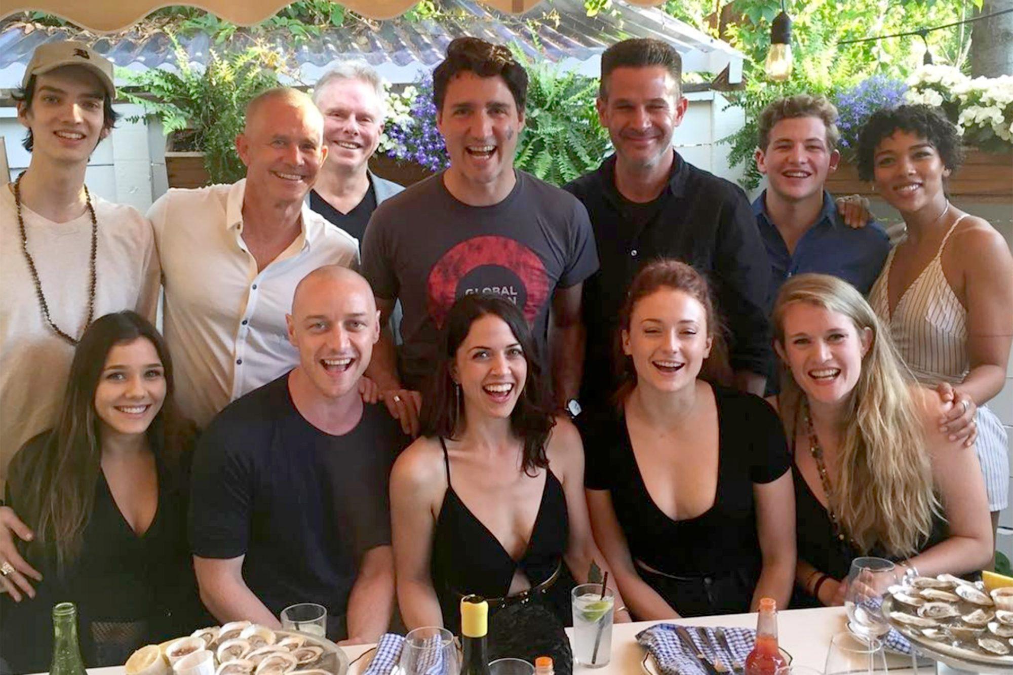 Justin Trudeau hangs with X-Men cast