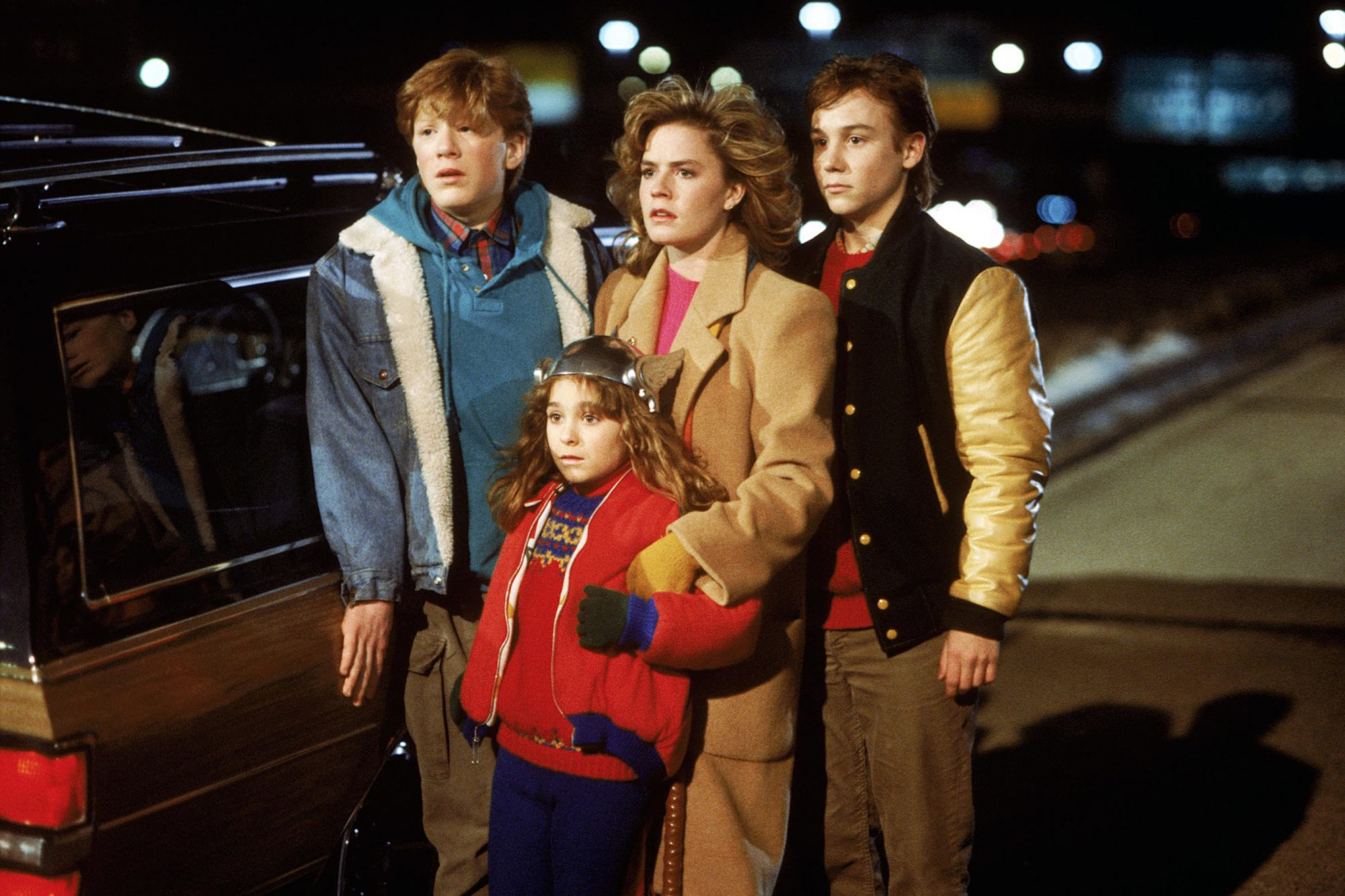 ADVENTURES IN BABYSITTING, Anthony Rapp, Maia Brewton, Elisabeth Shue, Keith Coogan, 1987, (c) Buena