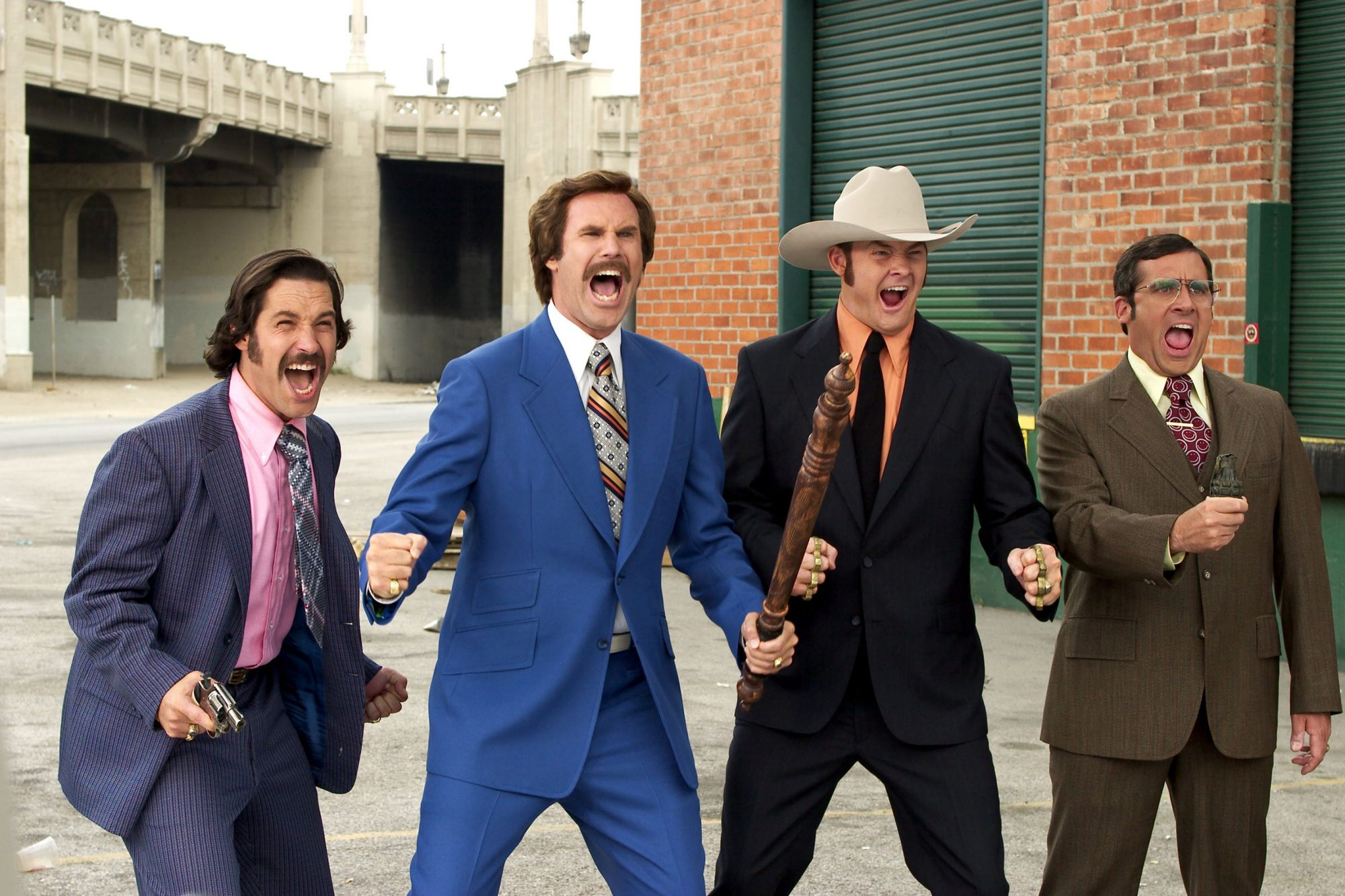 ANCHORMAN: THE LEGEND OF RON BURGUNDY, Paul Rudd, Will Ferrell, David Koechner, Steve Carell, 2004,