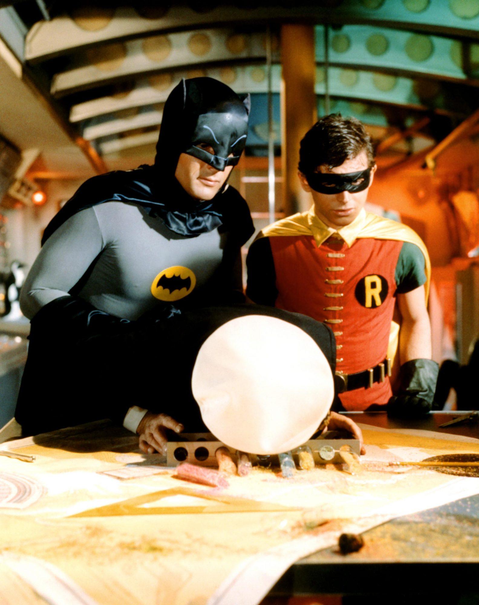 BATMAN, (aka BATMAN: THE MOVIE), Adam West, Reginald Denny (face down), Burt Ward, 1966, TM and Copy