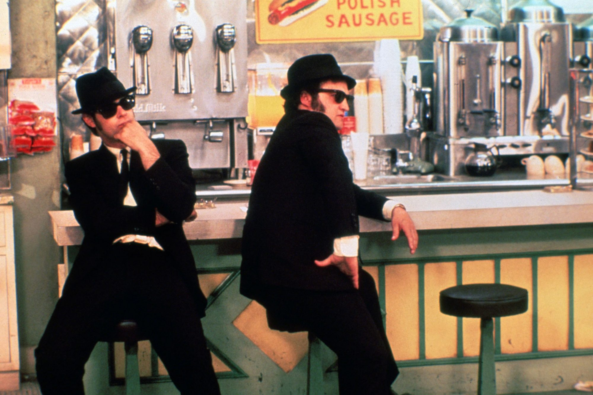 THE BLUES BROTHERS, Dan Aykroyd, John Belushi, 1980, ©Universal/courtesy Everett Collection