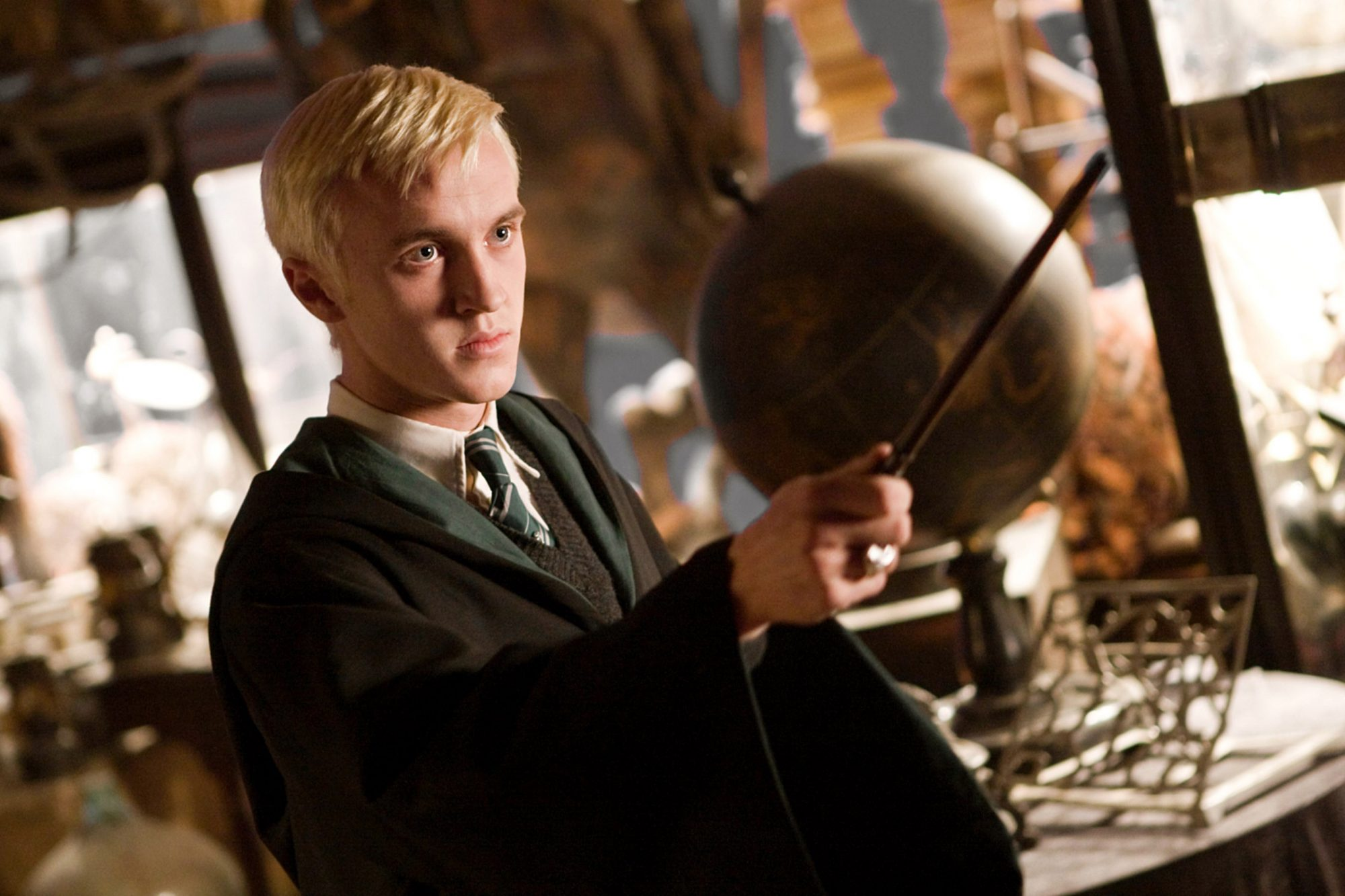 HARRY POTTER AND THE HALF-BLOOD PRINCE, Tom Felton, 2009. ©Warner Bros./courtesy Everett Collection