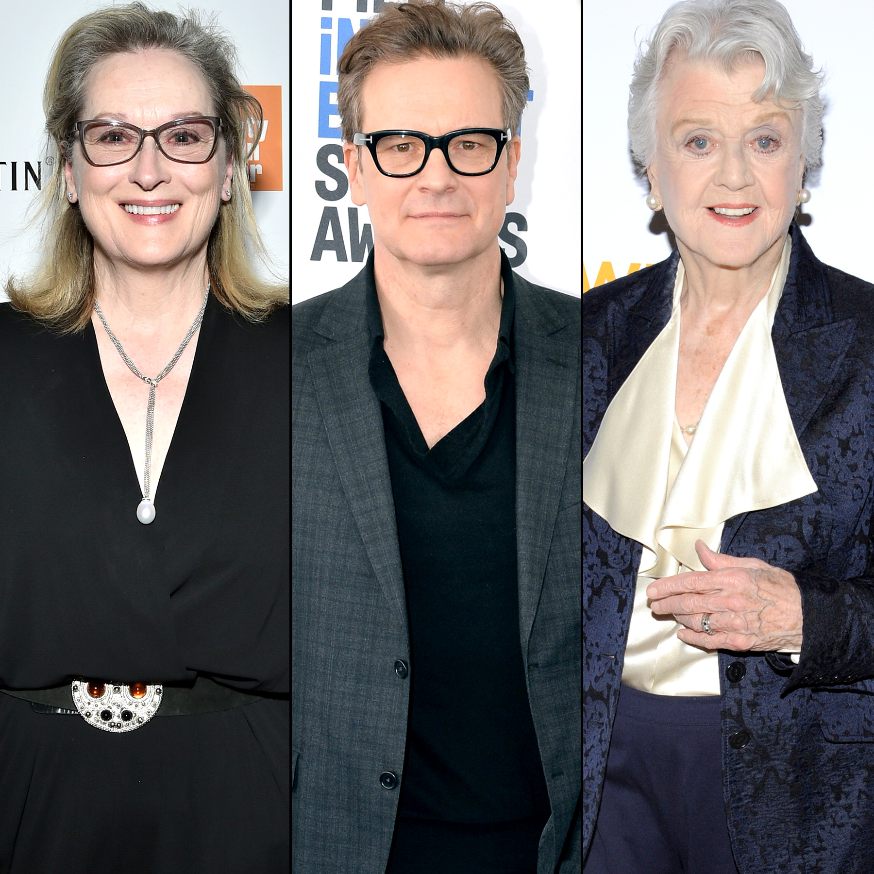 Meryl Streep, Colin Firth, and Angela Lansbury