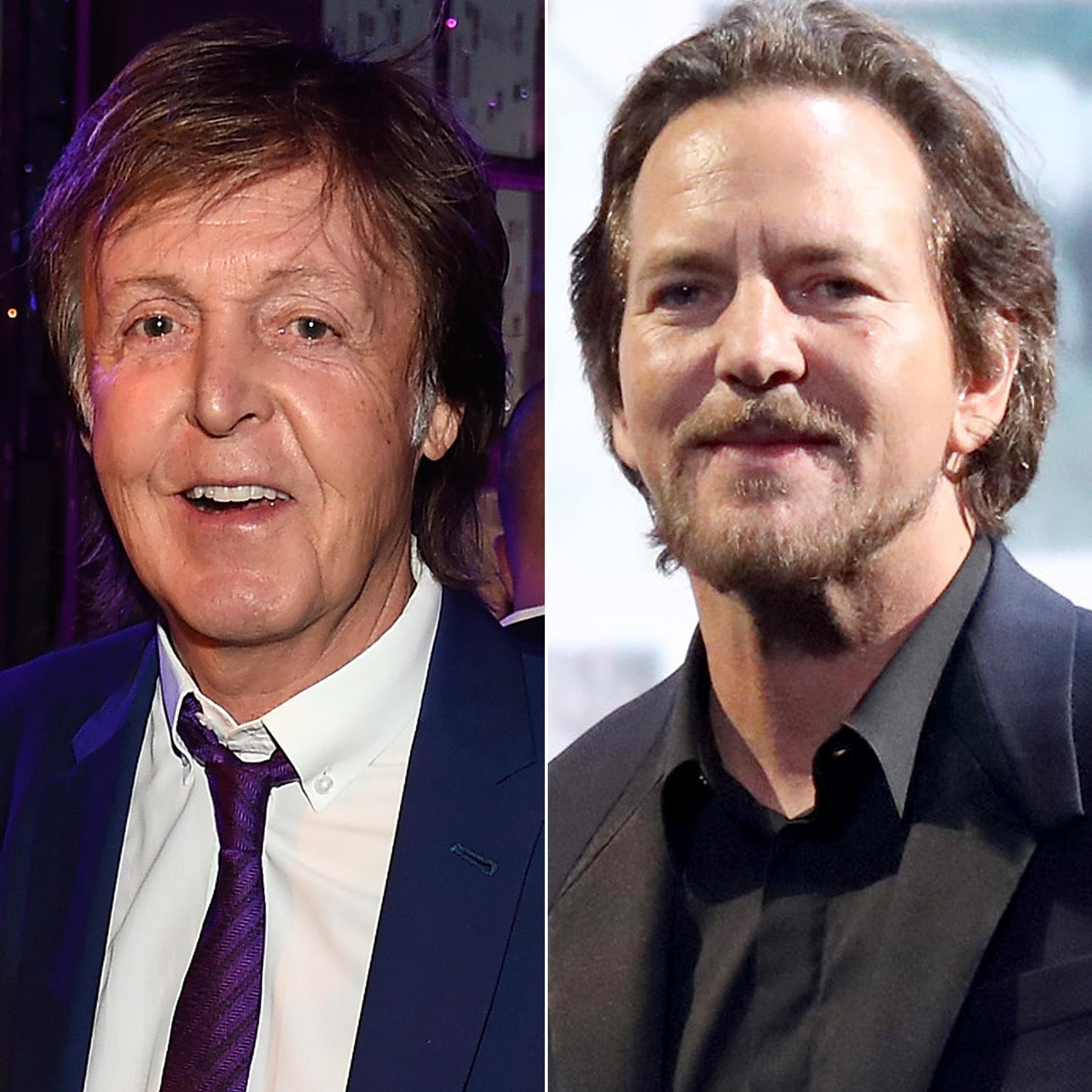 Paul McCartney punched Eddie Vedder
