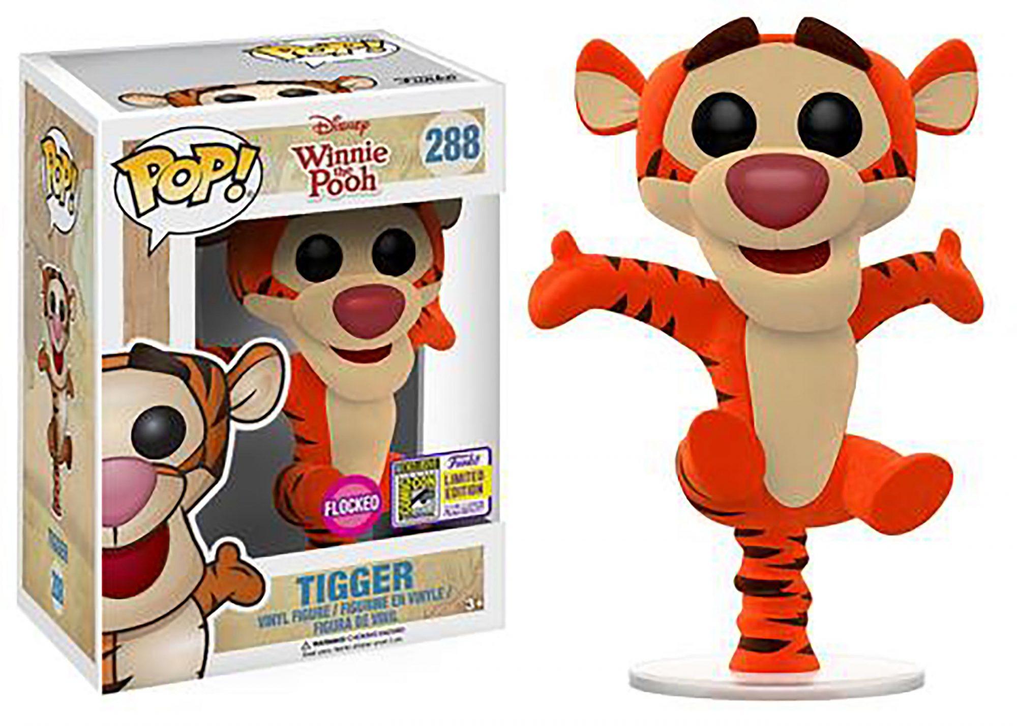 Pop! Disney: Winnie the Pooh – Bouncing Tigger (Flocked)