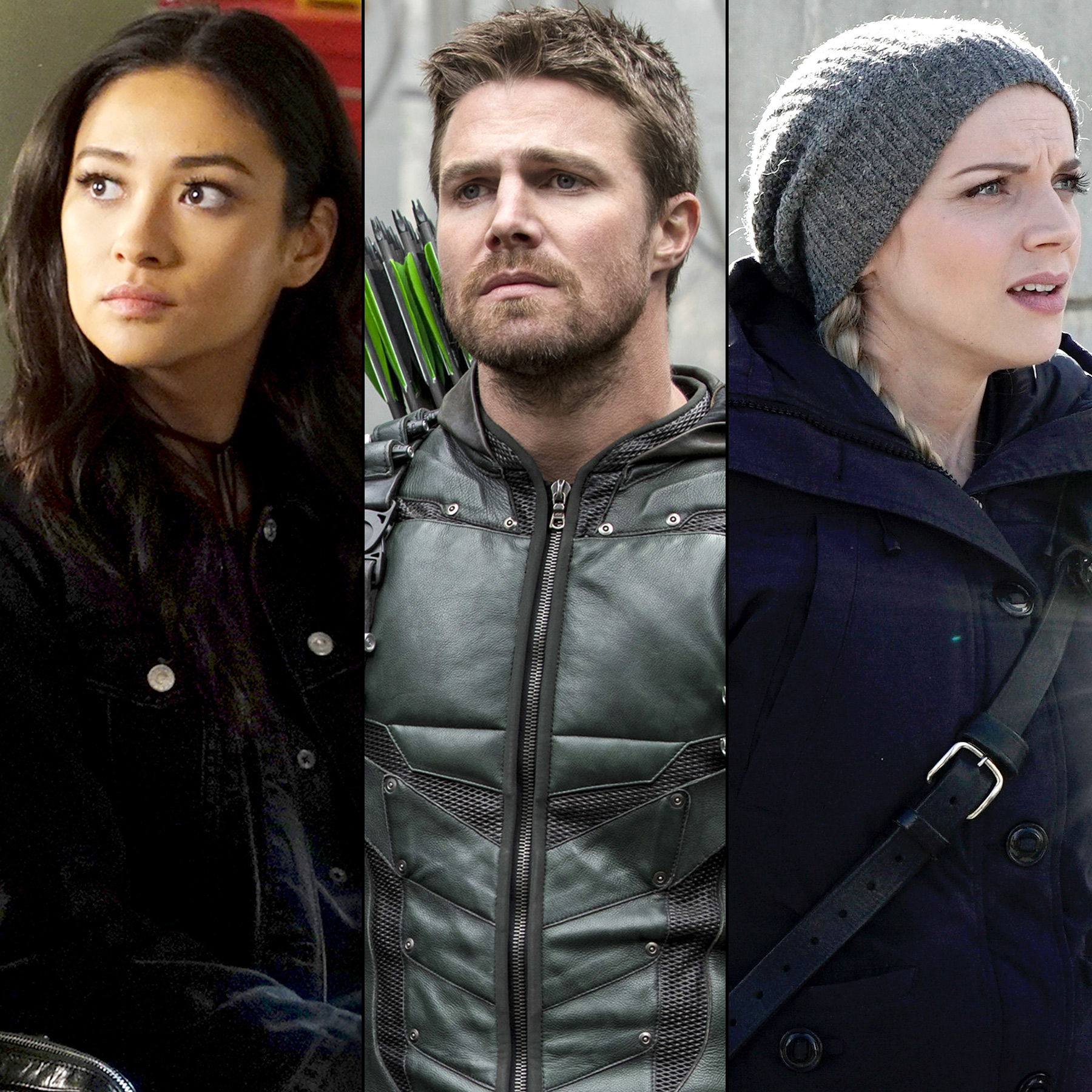 Shay Mitchell Pretty Little Liars, Stephen Amell on Arrow and Kara Killmer from Chicago Fire