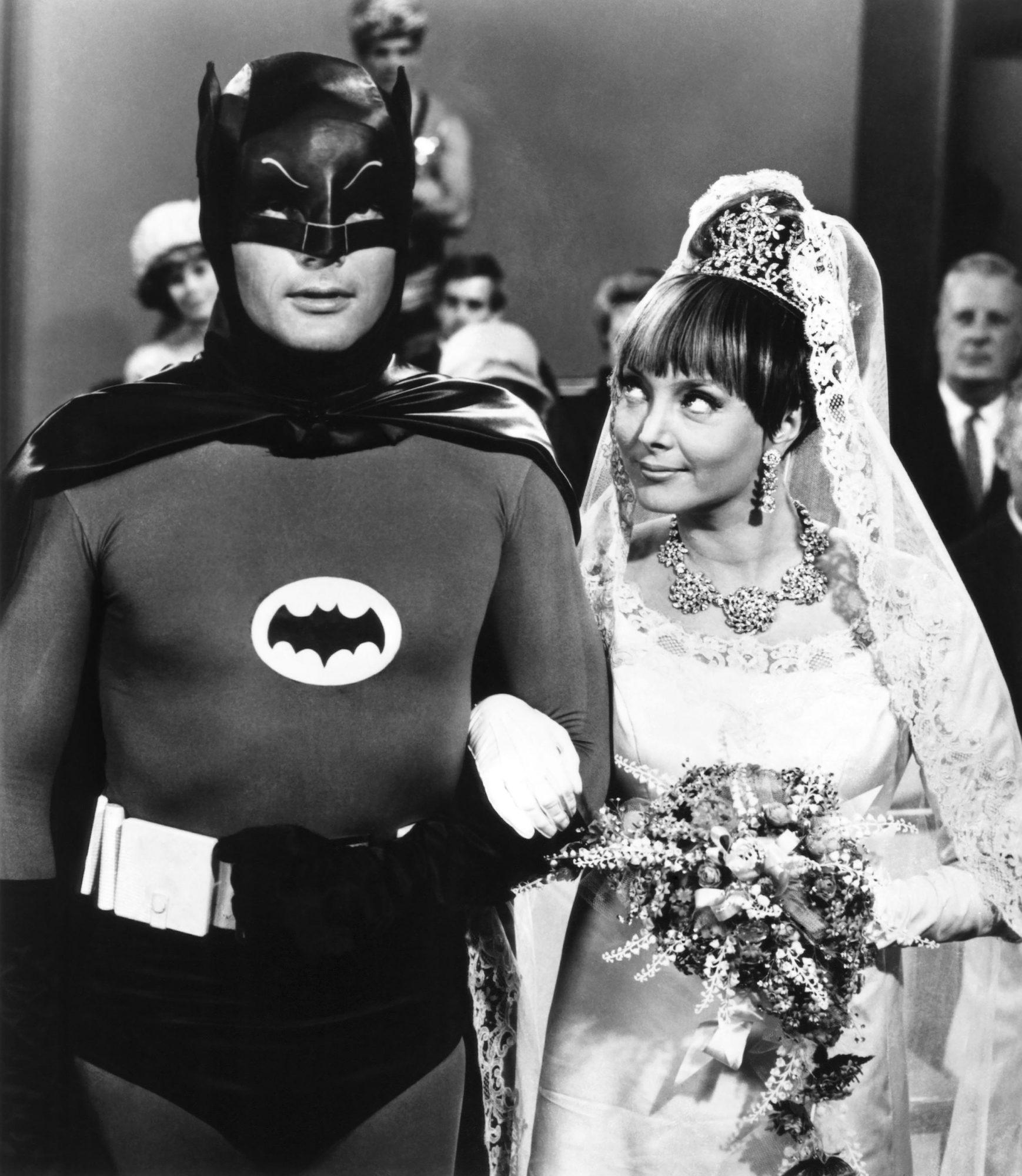 BATMAN, (from left): Adam West, Carolyn Jones, (Season 2, ep. 223, aired Nov. 23, 1966), 1966-68. TM