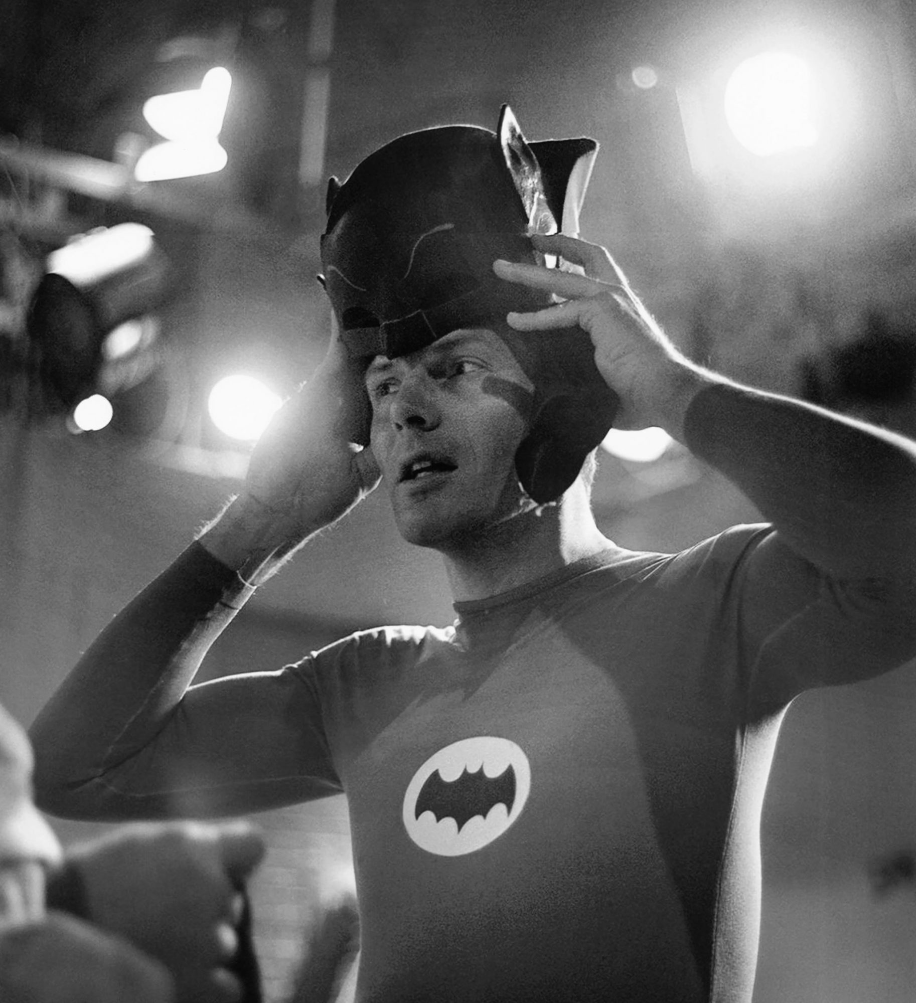 BATMAN, Adam West, on-set, 1966-68, TM and Copyright ©20th Century Fox Film Corp. All rights reserve