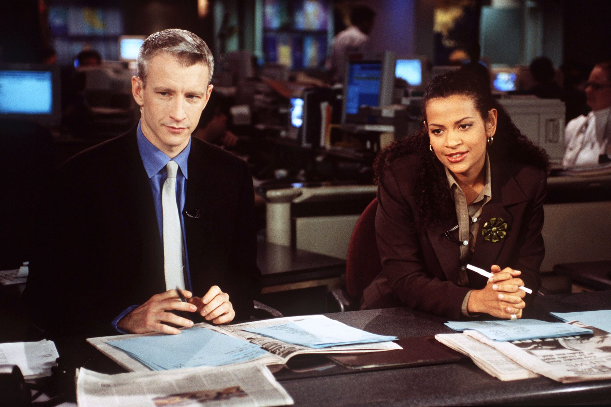 WORLD NEWS NOW, Anderson Cooper and Alison Stewart broadcast from the set,  airing overnight on ABC