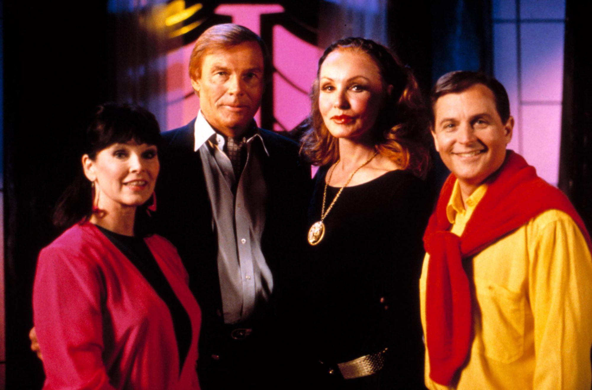 BATMAN REUNION, Yvonne Craig, Adam West, Julie Newmar, Burt Ward, 1990s, exact date not available.