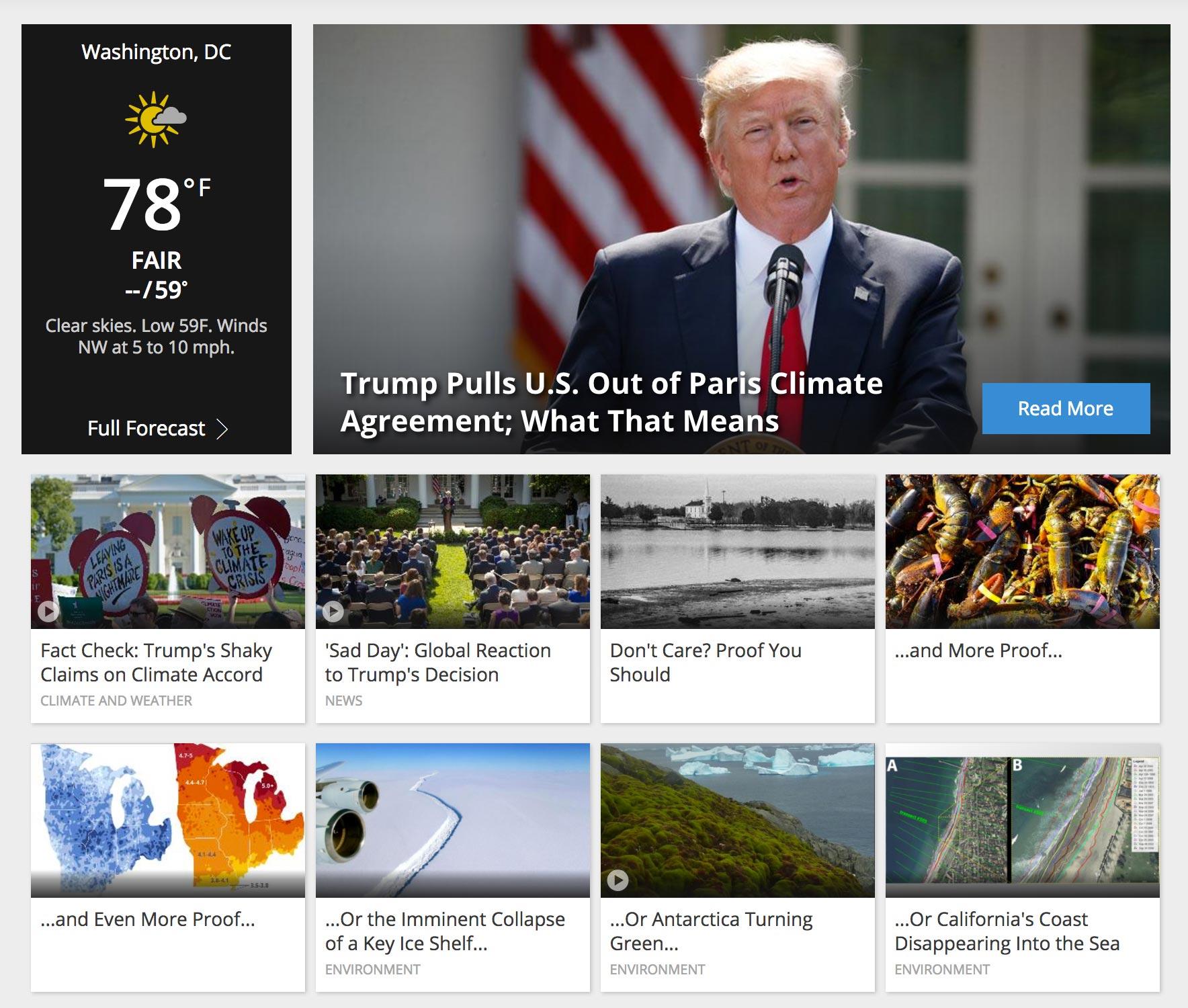Weather.com Homepage (screen grab) CR: Weather.com