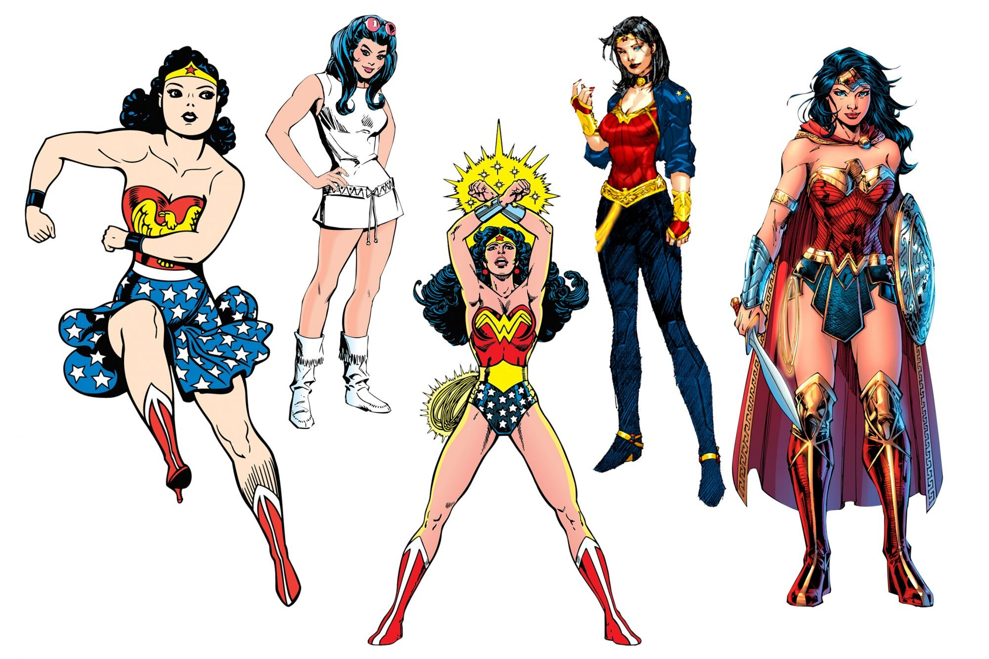 The Evolution Of Wonder Woman S Look Ew Com