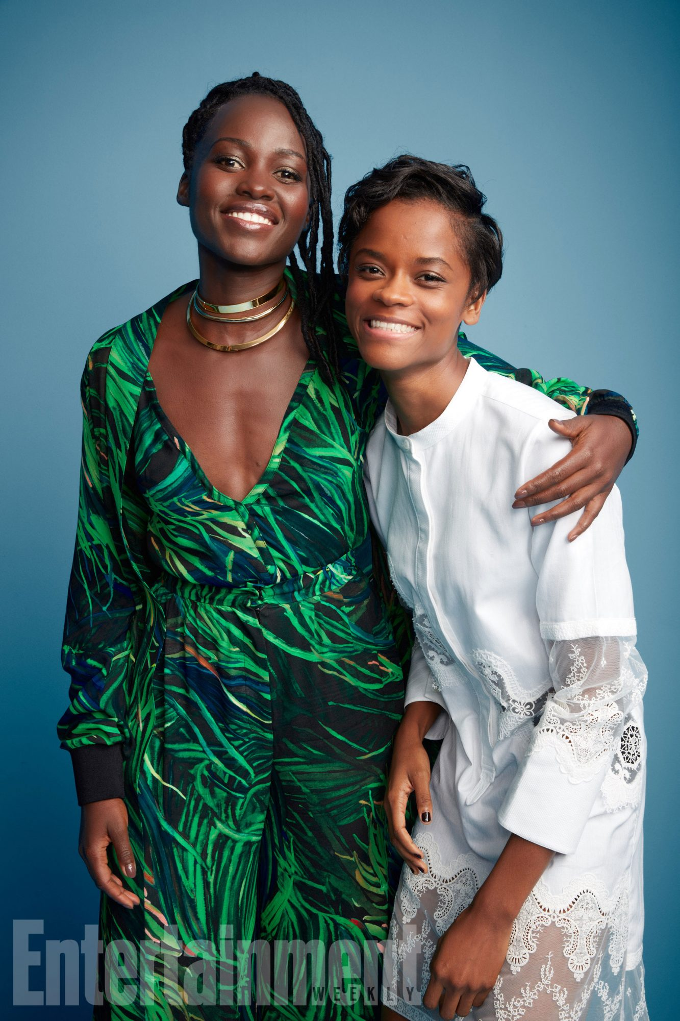 Lupita Nyong'o and Letitia Wright