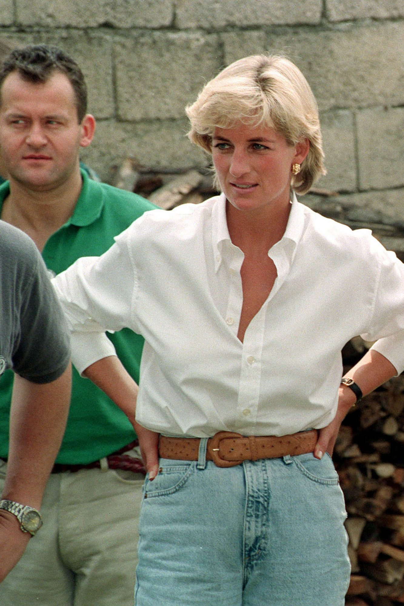 Diana's visit was planned in secrecy