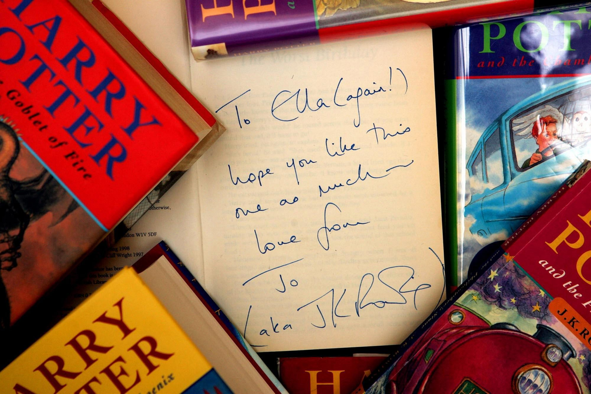 An uncorrected proof copy of J.K Rowling's Harry Potter and the Philosopher's Stone will go under the hammer at Christie's.