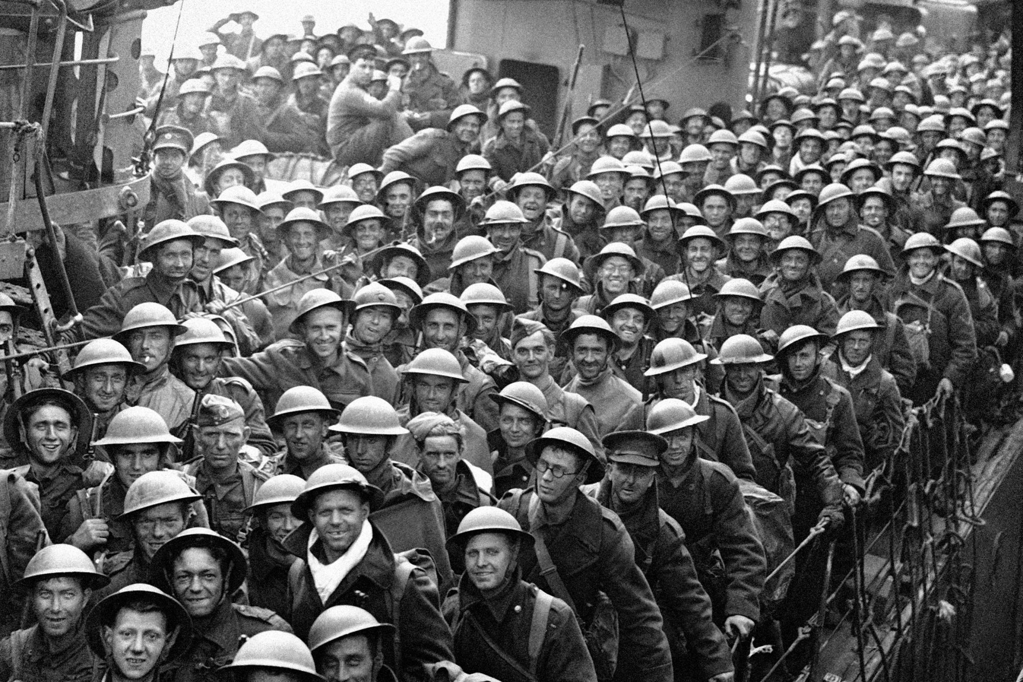 WWII England Troops Return From Dunkirk