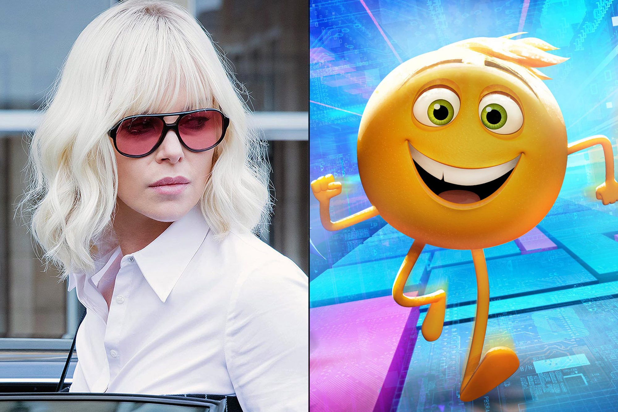 Atomic Blonde and The Emoji Movie