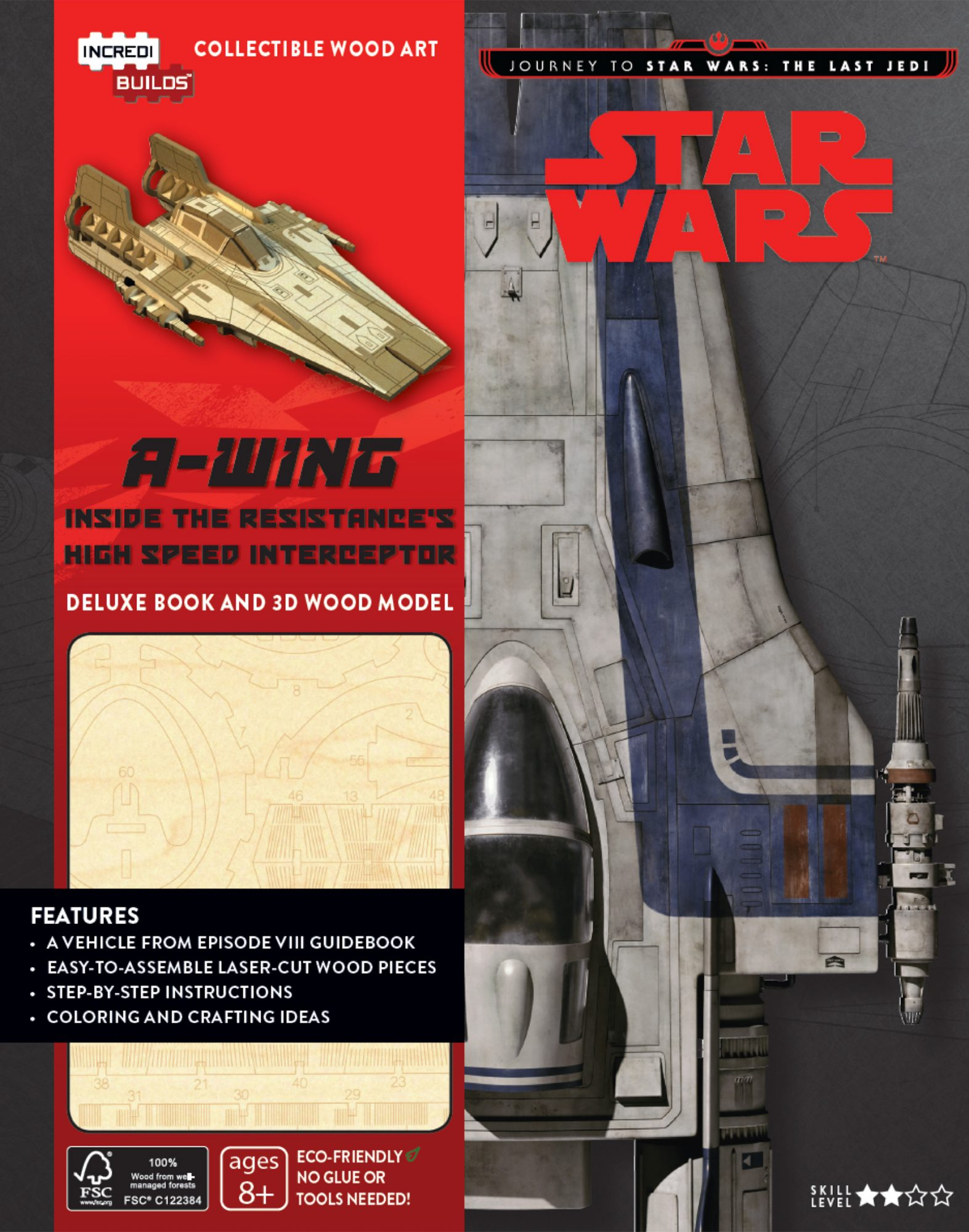 The Last Jedi - A-wing IncrediBuild, by Michael Kogge