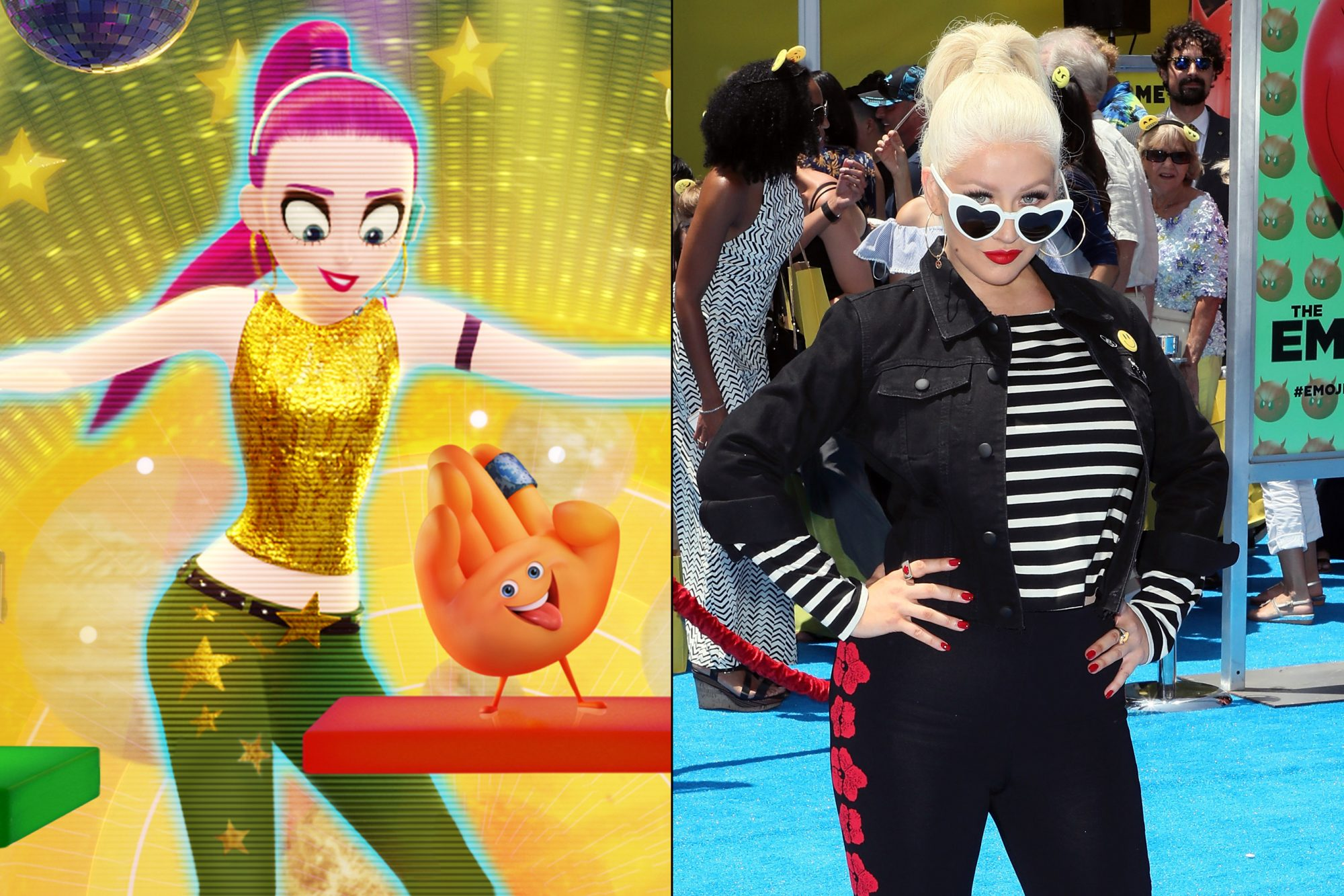 Christina Aguilera voices Akiko Glitter, a  super cool  dancer who lives inside the Just Dance app