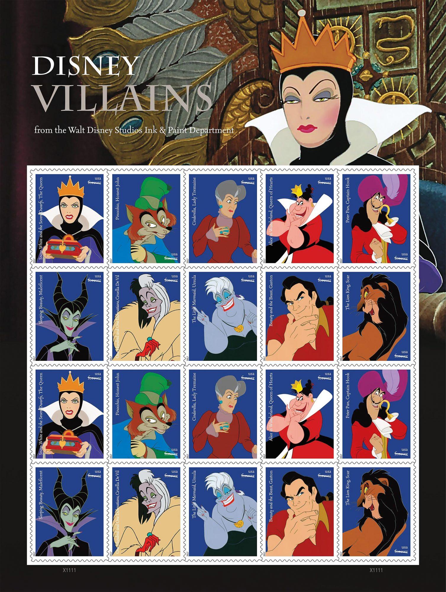 Disney USPS Stamps CR: Disney/USPS