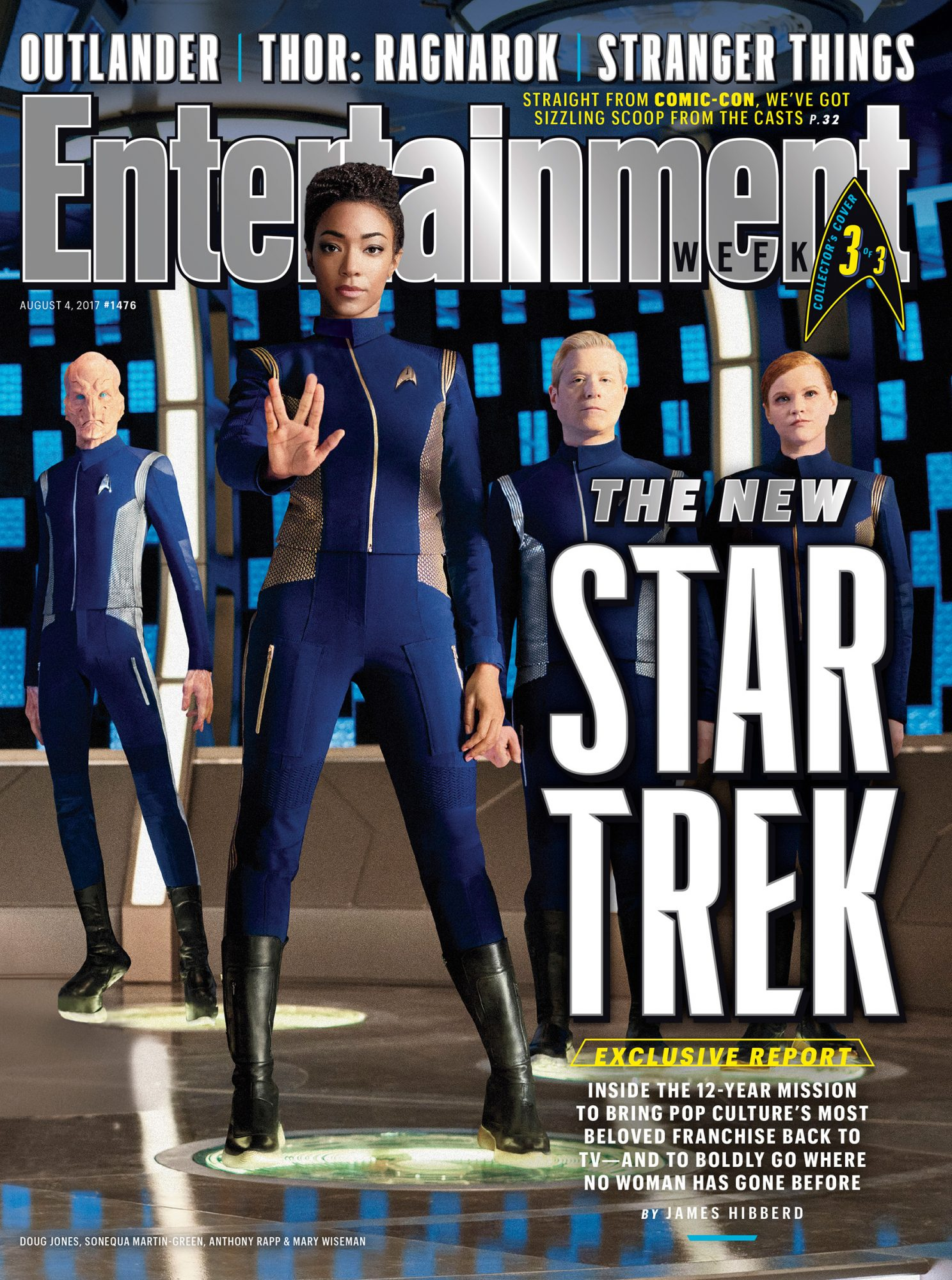 Our cover with Martin-Green, Jones, Anthony Rapp and Mary Wiseman