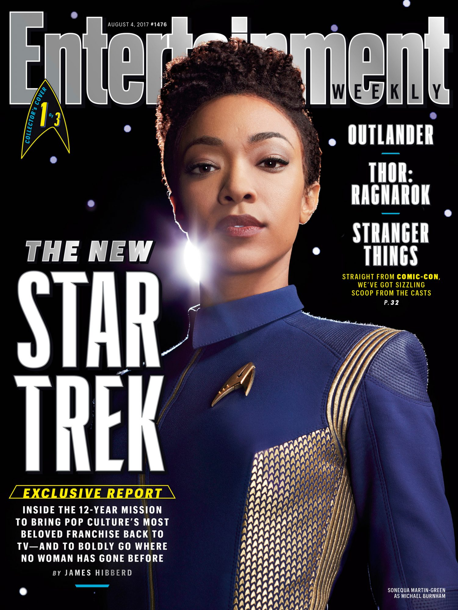 Sonequa Martin-Green as First Officer Michael Burnham in Star Trek: Discovery