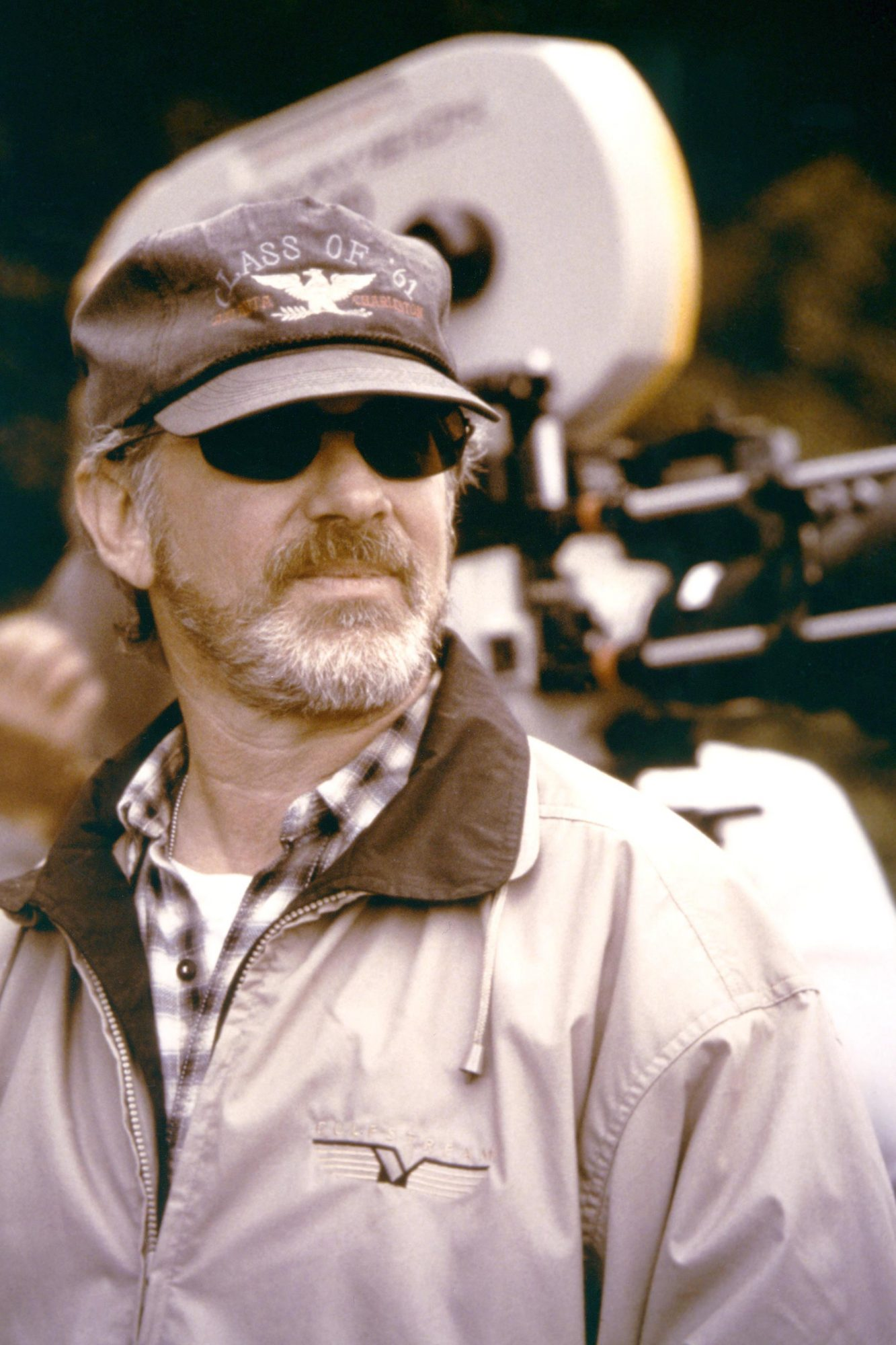 On the set, Steven Spielberg / Saving Private Ryan / 1998 directed by Steven Spielberg [Dreamworks LLC /Paramount Pictures]
